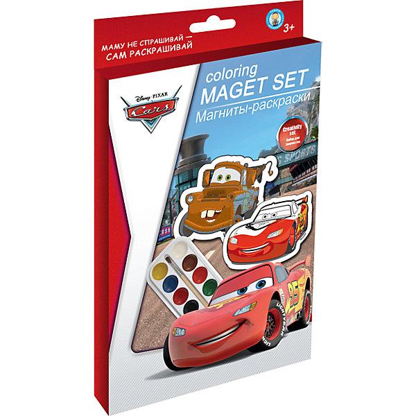 Магниты-раскраски ТачкиТачки<br>Этот набор позволит вашему ребенку самому сделать магниты с любимыми героями. Получившиеся яркие магнитики можно повесить на холодильник или же подарить, как памятный сувенир. Создание магнитов не только увлекательное и интересное занятие, оно помогает развить моторику, творческие способности и цветовосприятие. <br><br>Дополнительная информация:<br><br>- Материал: краски, пластик, магнитная лента. <br>- Размер упаковки: 15х24,5 см.<br>- Комплектация: 4 фигурки-раскраски, акварельные краски 8 цветов, кисть, магнитная лента.<br><br>Магниты-раскраски Тачки,(Cars) можно купить в нашем магазине.<br><br>Ширина мм: 18<br>Глубина мм: 150<br>Высота мм: 245<br>Вес г: 71<br>Возраст от месяцев: 48<br>Возраст до месяцев: 84<br>Пол: Мужской<br>Возраст: Детский<br>SKU: 4319919