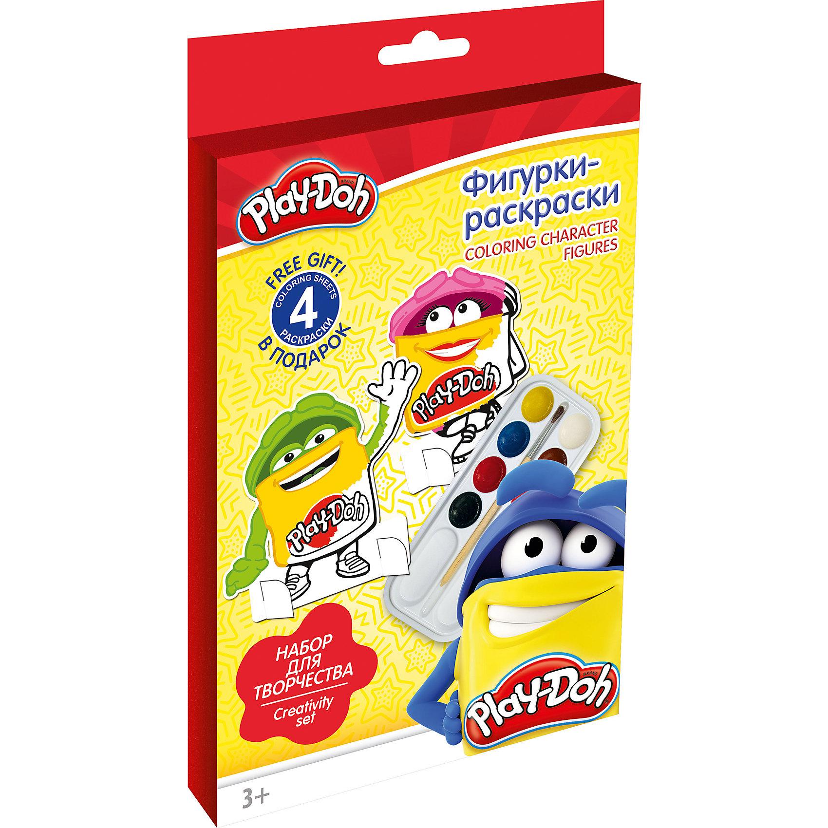 Академия групп Фигурки-раскраски Play Doh hasbro play doh игровой набор из 3 цветов цвета в ассортименте с 2 лет