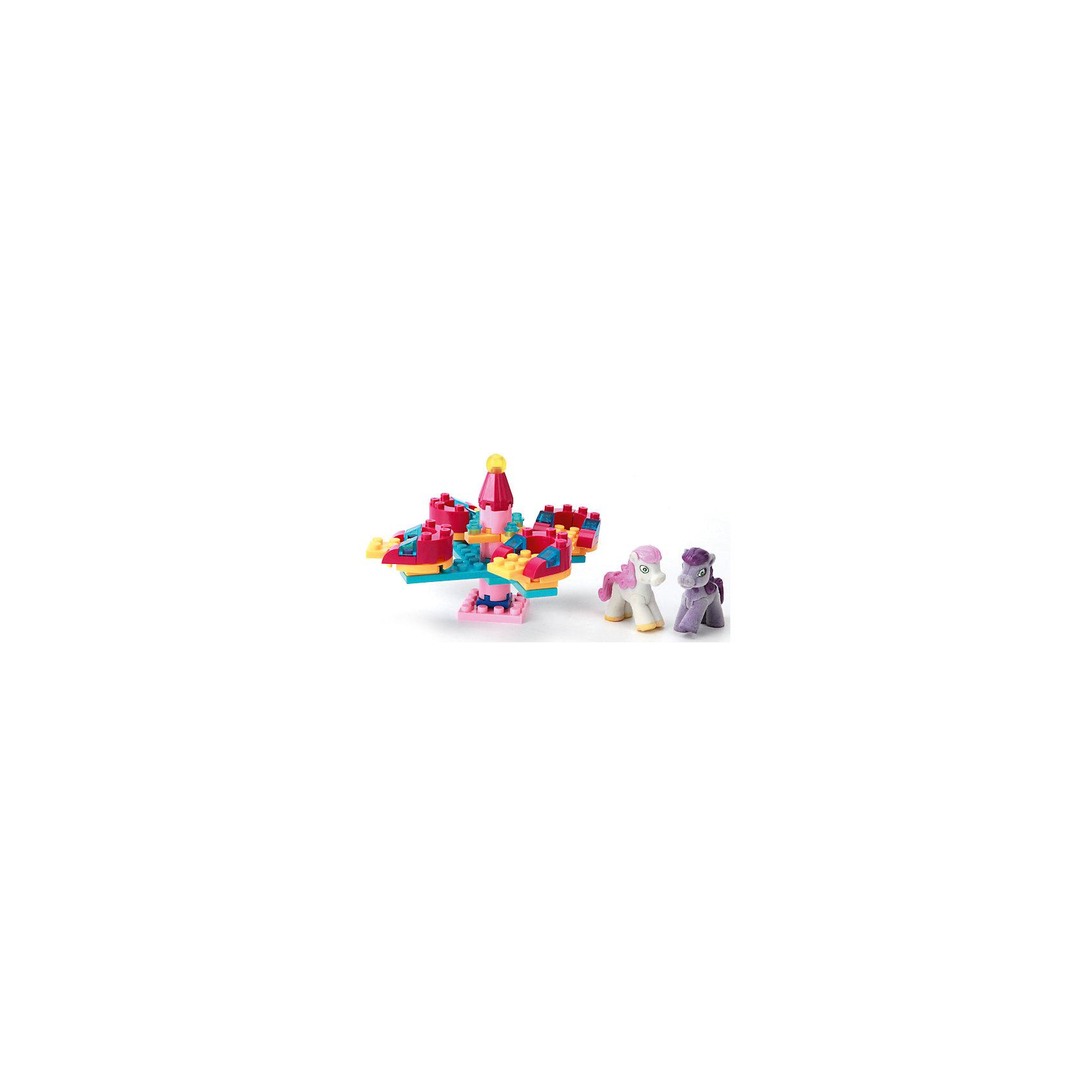 """Конструктор """"Карусель с фигуркой пони"""", 65 дет.,  Город мастеров от myToys"""
