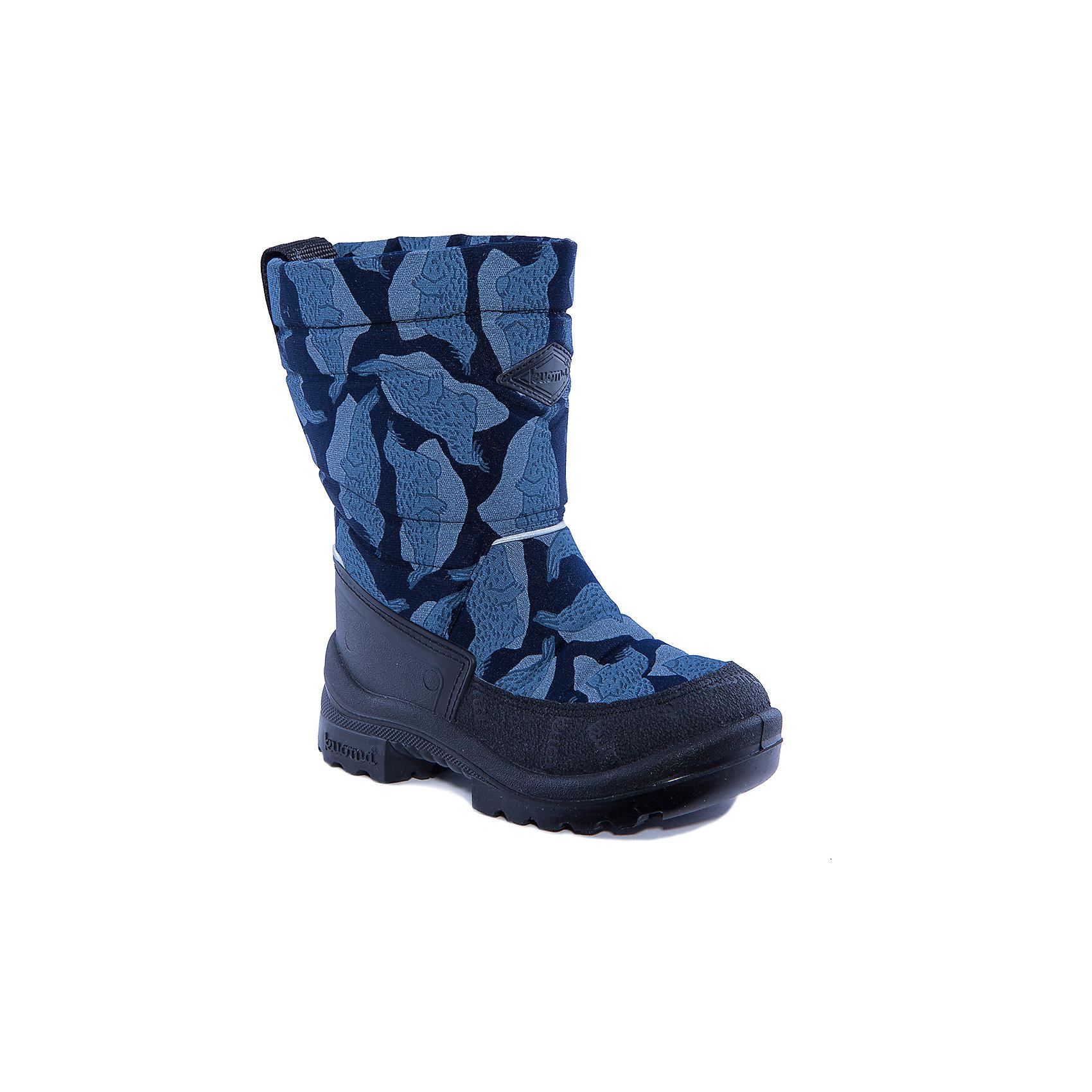 Зимние сапоги Putkivarsi для мальчика KUOMAХарактеристики товара:<br><br>• цвет: синий<br>• температурный режим: от -5° С до -30° С<br>• внешний материал: текстиль<br>• стелька: искусственный войлок<br>• подошва: полиуретан<br>• светоотражающие детали<br>• амортизирующая износостойкая подошва<br>• сменная стелька<br>• верх  - с влагоотталкивающей обработкой<br>• страна бренда: Финляндия<br>• страна изготовитель: Финляндия<br><br>Во всех валенках Kuoma до 26 размера включительно утеплитель – натуральная шерсть, начиная с 27 размера – искусственный мех.<br><br>Стильные сапожки для ребенка от известного бренда детской обуви KUOMA (Куома) созданы специально для холодной погоды. Качественные материалы с пропиткой против грязи и воды и модный дизайн понравятся и малышам и их родителям. Подошва и стелька обеспечат ребенку комфорт, сухость и тепло, позволяя в полной мере наслаждаться зимним отдыхом. Усиленная защита пятки и носка обеспечивает дополнительную безопасность детских ног в этих сапожках.<br>Эта красивая и удобная обувь прослужит долго благодаря известному качеству финских товаров. Производитель предусмотрел даже светоотражающие детали и амортизирующие свойства подошвы! Модель производится из качественных и проверенных материалов, которые безопасны для детей.<br><br>Зимние сапоги для мальчика от бренда KUOMA (Куома) можно купить в нашем интернет-магазине.<br><br>Ширина мм: 257<br>Глубина мм: 180<br>Высота мм: 130<br>Вес г: 420<br>Цвет: синий<br>Возраст от месяцев: 21<br>Возраст до месяцев: 24<br>Пол: Мужской<br>Возраст: Детский<br>Размер: 24,33,23,26,27,28,30,31,32,35,34,29,25<br>SKU: 4320931