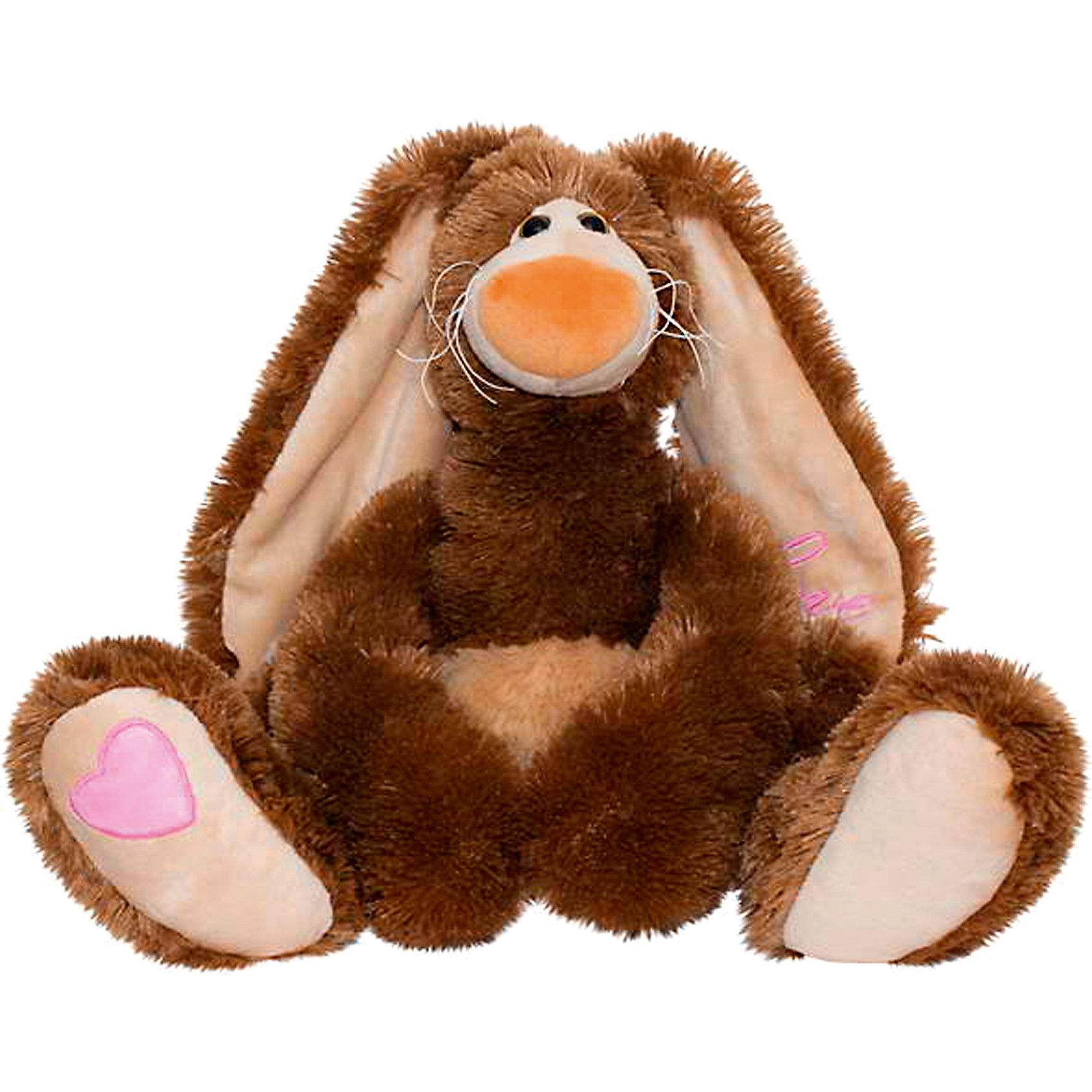 Мягкая игрушка Зайчик Счастливчик, FancyЗайцы и кролики<br>Мягкая игрушка Зайчик Счастливчик, Fancy<br><br>Характеристики игрушки:<br>- Состав: текстиль<br>- Размер: 30 см. <br><br>Мягкая игрушка Зайчик Счастливчик от популярного бренда мягких игрушек Fancy (Фэнси) станет отличным другом малыша. Зайчик изготовлен из безопасных материалов, не содержит мелких деталей и подходит детям от трех лет. Мягкие оттенки коричневого добавят уюта, а большие длинные лапки так и хотят обнять. Длинные пушистые ушки приятные и мягкие на ощупь. Зайчик Счастливчик поможет развить воображение, навыки общения, моторику рук, а также тактильное и цветовое восприятие.   <br><br>Мягкую игрушку Зайчик Счастливчик, Fancy (Фэнси) можно купить в нашем интернет-магазине.<br>Подробнее:<br>• Для детей в возрасте: от 3 до 8 лет <br>• Номер товара: 4322154<br>Страна производитель: Китай<br><br>Ширина мм: 280<br>Глубина мм: 300<br>Высота мм: 280<br>Вес г: 520<br>Возраст от месяцев: 36<br>Возраст до месяцев: 96<br>Пол: Унисекс<br>Возраст: Детский<br>SKU: 4322154