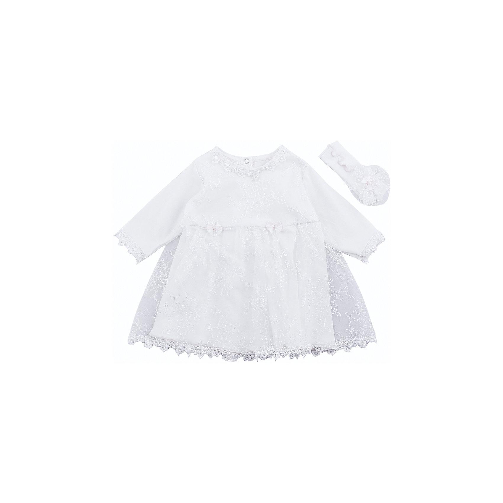Комплект на выписку: платье и повязка на голову для девочки Soni KidsНаборы одежды, конверты на выписку<br>Комплект на выписку:  платье и повязка на голову для девочки от популярной марки Soni Kids<br><br>Симпатичный и удобный комплект состоит из платья и повязки. Он создан специально для того, чтобы подчеркнуть торжественность момента выписки и сделать малышку особенно очаровательной.<br><br>Особенности модели:<br><br>- цвет - молочный;<br>- материал натуральный хлопок;<br>- украшен кружевом;<br>- рукава длинные;<br>- повязка - на широкой резинке, украшена гипюром и бантом;<br>- рукава длинные;<br>- застежки - кнопки впереди.<br><br>Дополнительная информация:<br><br>Состав:  100% хлопок (интерлок)<br><br>Габариты:<br><br>длина - 35 см;<br>длина рукава  - 18 см.<br><br>*соответствует размеру 56<br><br><br>Комплект на выписку:  платье и повязка на голову для девочки от популярной марки Soni Kids (Сони Кидс) можно купить в нашем магазине.<br><br>Ширина мм: 157<br>Глубина мм: 13<br>Высота мм: 119<br>Вес г: 200<br>Цвет: бежевый<br>Возраст от месяцев: 2<br>Возраст до месяцев: 5<br>Пол: Женский<br>Возраст: Детский<br>Размер: 62<br>SKU: 4323496