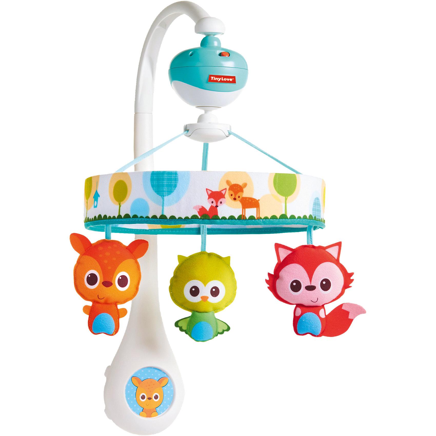 Мобиль Мои музыкальные друзья, Tiny LoveМобили<br>Коврик Мои музыкальные друзья, Tiny Love<br><br>Характеристики коврика:<br>- Материал: текстиль (хлопок, ПЭ), пластик. <br>- Размер: 80 * 45 * 88 см. <br>- Высота дуг коврика: 45 см.<br>- Комплектация: коврик, 2 дуги, 5 подвесных игрушек, музыкальный слоненок.<br>- Имеет 8 мелодий<br>- Элементы питания: батарейки АА, 3 шт. (в комплект не входят)<br>- Можно стирать в стиральной машине (деликатный режим).<br>- Коврик легко собирать и разбирать.<br><br>Коврик Мои музыкальные друзья от известного бренда развивающих товаров для детей Tiny Love (Тини Лав) станет отличным другом малыша. В набор подвесных игрушек входит прорезыватель, погремушка-жирафик, за которую так удобно тянуть, черепашка-бубен с зеркальным панцирем, подвесной попугайчик с колокольчиком, обезьянка-цимбалы и бегемотик- кастаньеты. Закрепляемый слоник поет мелодии при нажатии на его голову. В памяти слоника записаны восемь мелодий, таких как менуэт Баха, алфавитную песенку, песенку автобуса, Row Your Boat на английском языке. Коврик рассчитан для детей от рождения и до года. В первые три месяца ребенок начинает изучать пространство и может нажимать на слоника ножками, устанавливая причинно-следственные связи с появлением музыки и движениями ножек. Начиная с трех месяцев и до полугода малыш может проводить время на животике и изучать себя в черепашку-зеркало. После полугода малыш может использовать музыкальные инструменты коврика отдельно как свой музыкальный  набор в виде погремушки, бубна, слоника. Коврик поможет развить воображение, логику, навыки общения, крупную моторику рук, а также тактильное, цветовое и звуковое восприятие.   <br><br>Коврик Мои музыкальные друзья, Tiny Love (Тини Лав) можно купить в нашем интернет-магазине.<br>Подробнее:<br>• Для детей в возрасте: от 0 до 12 месяцев <br>• Номер товара: 4324399<br>Страна производитель: Китай<br><br>Ширина мм: 349<br>Глубина мм: 342<br>Высота мм: 116<br>Вес г: 870<br>Возраст от месяцев: 0<br>Возраст 