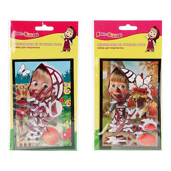 Мозаика из крупных страз Маша и МедведьМозаика детская<br>Мозаика Маша и Медведь - увлекательный набор для детского творчества, который поможет Вашему ребенку без ножниц и клея сделать красивую картинку. Техника выполнения мозаики проста и не представляет сложностей: на картинку-основу уже нанесен рисунок с пронумерованными фрагментами, нужно лишь аккуратно вклеить детали в виде страз согласно указанным цифрам на схеме. Все элементы имеют самоклеющуюся основу, легко приклеиваются и прочно держатся. Итогом работы станет красочная сверкающая мозаика с изображением веселой героини из популярного мультсериала Маша и Медведь. Готовая картинка станет отличным украшением детской комнаты или подарком родным и друзьям. Работа с мозаикой развивает у ребенка цветовое восприятие, образно-логическое мышление и пространственное воображение, тренирует мелкую моторику.<br><br>Дополнительная информация:<br><br>- В комплекте: картинка с цветным рисунком по номерам, детали-стразы.<br>- Размер картинки: 10 х 15 см.<br>- Размер упаковки: 12 х 14 x 2,2 см.<br>- Вес: 40 гр.<br><br>Мозаику из крупных страз Маша и Медведь, Multiart, можно купить в нашем интернет-магазине.<br>Ширина мм: 120; Глубина мм: 140; Высота мм: 22; Вес г: 40; Возраст от месяцев: 60; Возраст до месяцев: 108; Пол: Женский; Возраст: Детский; SKU: 4328391;