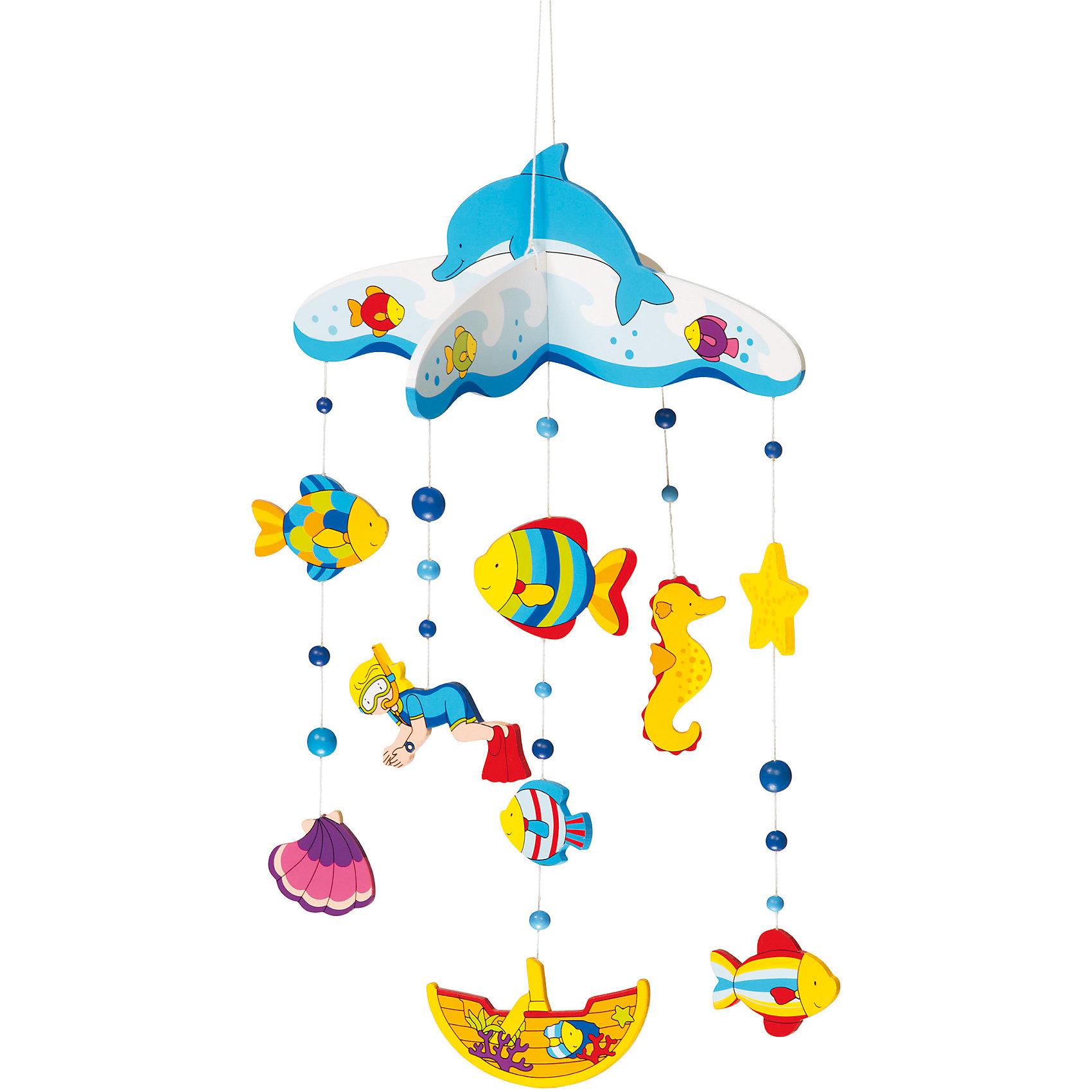 Мобиле Подводный мир, gokiМобиль Подводный мир, goki<br><br>Характеристики:<br><br>• Цвет: голубой<br>• Возраст: от 0 месяцев<br>• Размер: 26,5x40 см<br>• Материал: дерево<br><br>Мобиль с яркими животными сделан из дерева и выкрашен с помощью безопасных красок. Такие игрушки можно грызть, держать во рту и совершенно не беспокоиться. Игрушки привлекут внимание любого малыша и сделают игру еще интереснее. Такие яркие животные помогут малышу развить концентрацию внимания и моторику рук.<br><br>Мобиль Подводный мир, goki можно купить в нашем интернет-магазине.<br><br>Ширина мм: 400<br>Глубина мм: 265<br>Высота мм: 400<br>Вес г: 240<br>Возраст от месяцев: 0<br>Возраст до месяцев: 12<br>Пол: Унисекс<br>Возраст: Детский<br>SKU: 4328618