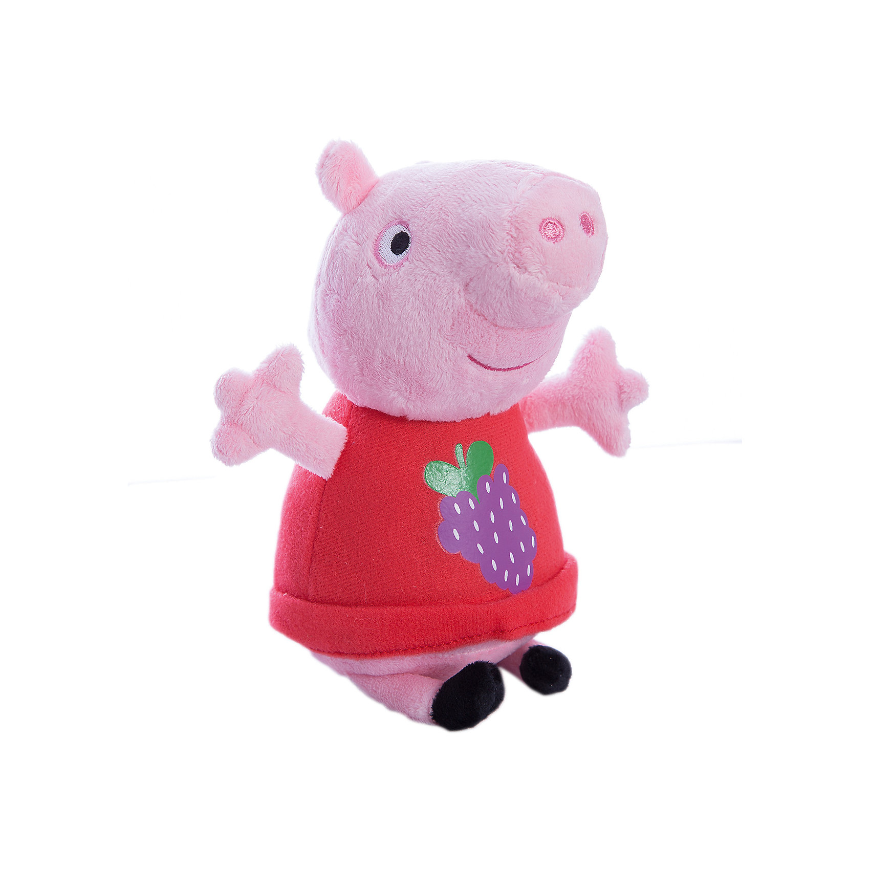 Мягкая игрушка Пеппа с виноградом, 20 см, Свинка ПеппаЛюбимые герои<br>Пеппа с виноградом, Свинка Пеппа - чудесная мягкая игрушка, которая обязательно порадует Вашего малыша. Очаровательная свинка из популярного детского мультсериала Peppa Pig такая же непоседливая и любопытная как и все малыши ее возраста и постоянно попадает в забавные и смешные ситуации. Игрушка выполнена из мягкой и нежной велюровой ткани и очень похожа на свой оригинал из мультика. Глазки, носик и ротик Пеппы выполнены в виде плотной вышивки, а ее красное платьице украшено яркой аппликацией в виде виноградной грозди. Собрав вместе других персонажей из серии Peppa Pig можно придумать множество веселых игр, которые будут развивать воображение и навыки общения.<br><br>Дополнительная информация:<br><br>- Материал: велюр, наполнитель.<br>- Высота игрушки: 20 см.<br>- Размер упаковки: 9 x 8 x 20 см. <br>- Вес: 60 гр.<br><br>Мягкую игрушку Пеппа с виноградом, 20 см., Свинка Пеппа, можно купить в нашем интернет-магазине.<br><br>Ширина мм: 90<br>Глубина мм: 80<br>Высота мм: 200<br>Вес г: 60<br>Возраст от месяцев: 36<br>Возраст до месяцев: 72<br>Пол: Унисекс<br>Возраст: Детский<br>SKU: 4330043