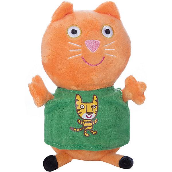 Мягкая игрушка Кенди с тигром, 20 см, Свинка ПеппаМягкие игрушки из мультфильмов<br>Кенди с тигром, Свинка Пеппа - чудесная мягкая игрушка, которая обязательно порадует Вашего малыша. Кошечка Кенди - очаровательная подружка свинки Пеппы из популярного детского мультсериала Peppa Pig, игрушка выполнена из мягкой и нежной велюровой ткани и очень похожа на свой оригинал из мультика. Глазки, носик и ротик Кенди выполнены в виде плотной вышивки, а ее зеленое платьице украшено яркой аппликацией в виде тигренка. Собрав вместе других персонажей из серии Peppa Pig можно придумать множество веселых игр, которые будут развивать воображение и навыки общения.<br><br>Дополнительная информация:<br><br>- Материал: велюр, гипоалергенный наполнитель.<br>- Высота игрушки: 20 см.<br>- Размер упаковки: 9 x 8 x 20 см. <br>- Вес: 60 гр.<br><br>Мягкую игрушку Кенди с тигром, 20 см., Свинка Пеппа, можно купить в нашем интернет-магазине.<br>Ширина мм: 90; Глубина мм: 80; Высота мм: 200; Вес г: 60; Возраст от месяцев: 36; Возраст до месяцев: 72; Пол: Унисекс; Возраст: Детский; SKU: 4330044;