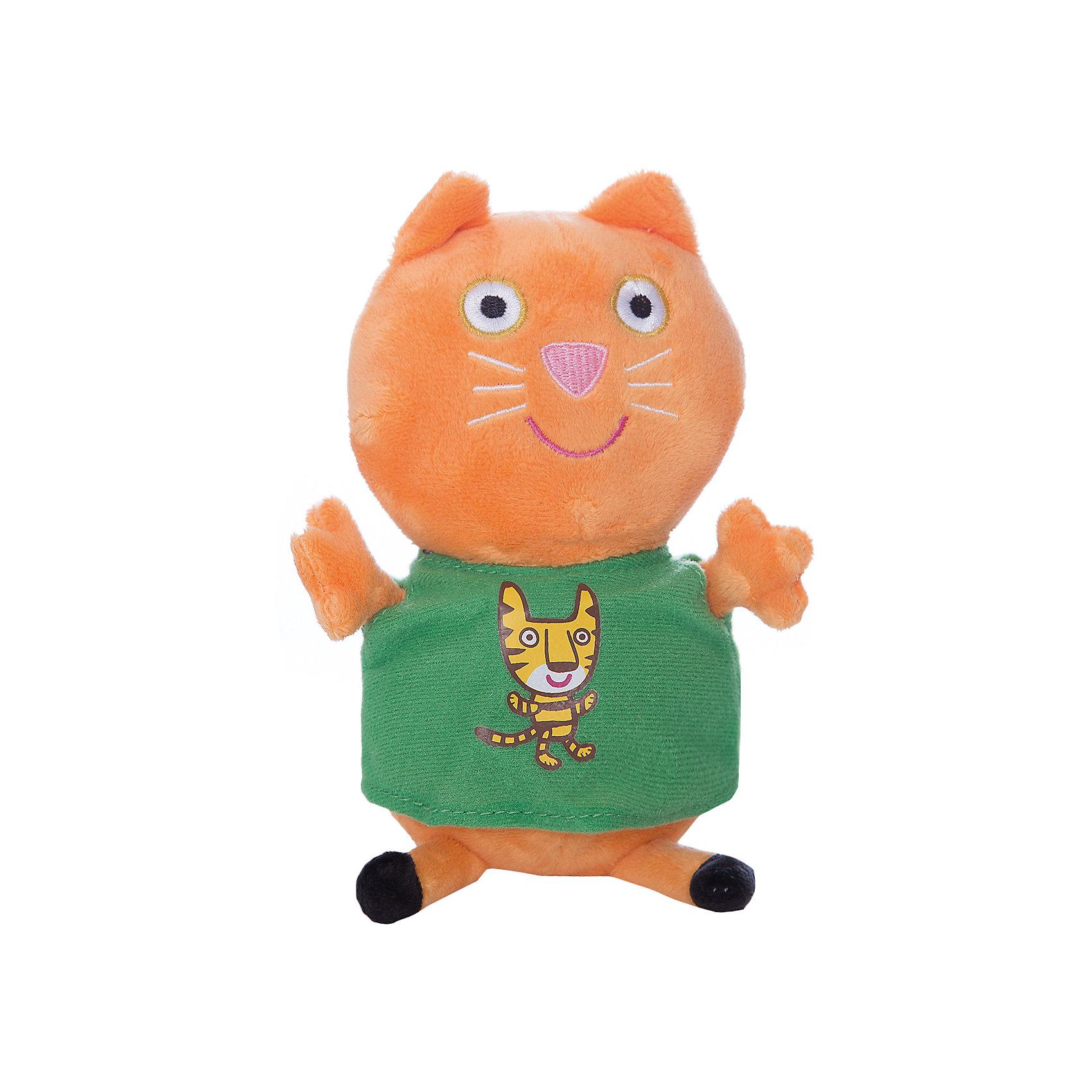 Мягкая игрушка Кенди с тигром, 20 см, Свинка ПеппаКенди с тигром, Свинка Пеппа - чудесная мягкая игрушка, которая обязательно порадует Вашего малыша. Кошечка Кенди - очаровательная подружка свинки Пеппы из популярного детского мультсериала Peppa Pig, игрушка выполнена из мягкой и нежной велюровой ткани и очень похожа на свой оригинал из мультика. Глазки, носик и ротик Кенди выполнены в виде плотной вышивки, а ее зеленое платьице украшено яркой аппликацией в виде тигренка. Собрав вместе других персонажей из серии Peppa Pig можно придумать множество веселых игр, которые будут развивать воображение и навыки общения.<br><br>Дополнительная информация:<br><br>- Материал: велюр, гипоалергенный наполнитель.<br>- Высота игрушки: 20 см.<br>- Размер упаковки: 9 x 8 x 20 см. <br>- Вес: 60 гр.<br><br>Мягкую игрушку Кенди с тигром, 20 см., Свинка Пеппа, можно купить в нашем интернет-магазине.<br><br>Ширина мм: 90<br>Глубина мм: 80<br>Высота мм: 200<br>Вес г: 60<br>Возраст от месяцев: 36<br>Возраст до месяцев: 72<br>Пол: Унисекс<br>Возраст: Детский<br>SKU: 4330044