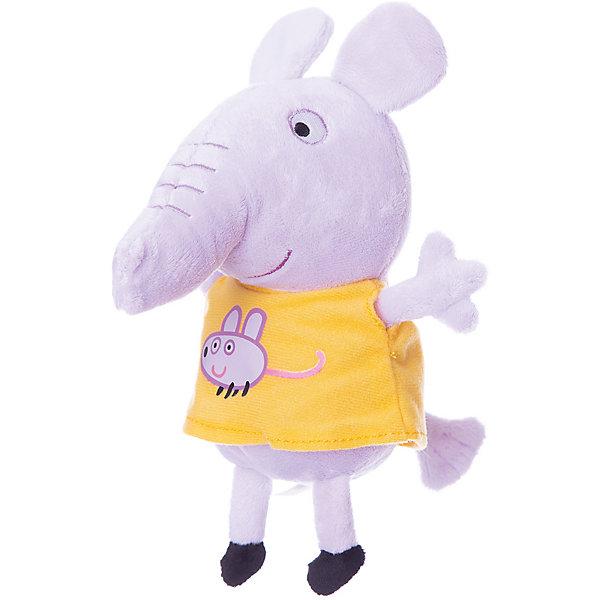Мягкая игрушка Эмили с мышкой, 20см, Свинка ПеппаМягкие игрушки из мультфильмов<br>Эмили с мышкой, Свинка Пеппа - чудесная мягкая игрушка, которая обязательно порадует Вашего малыша. Слоненок Эмили - очаровательная подружка свинки Пеппы из популярного детского мультсериала Peppa Pig, игрушка выполнена из мягкой и нежной велюровой ткани и очень похожа на свой оригинал из мультика. Глазки, носик и ротик Эмили выполнены в виде плотной вышивки, а ее желтое платьице украшено яркой аппликацией в виде мышки. Собрав вместе других персонажей из серии Peppa Pig можно придумать множество веселых игр, которые будут развивать воображение и навыки общения.<br><br>Дополнительная информация:<br><br>- Материал: велюр, гипоалергенный наполнитель.<br>- Высота игрушки: 20 см.<br>- Размер упаковки: 9 x 8 x 20 см. <br>- Вес: 60 гр.<br><br>Мягкую игрушку Эмили с мышкой, 20 см., Свинка Пеппа, можно купить в нашем интернет-магазине.<br><br>Ширина мм: 90<br>Глубина мм: 80<br>Высота мм: 200<br>Вес г: 60<br>Возраст от месяцев: 36<br>Возраст до месяцев: 72<br>Пол: Унисекс<br>Возраст: Детский<br>SKU: 4330045