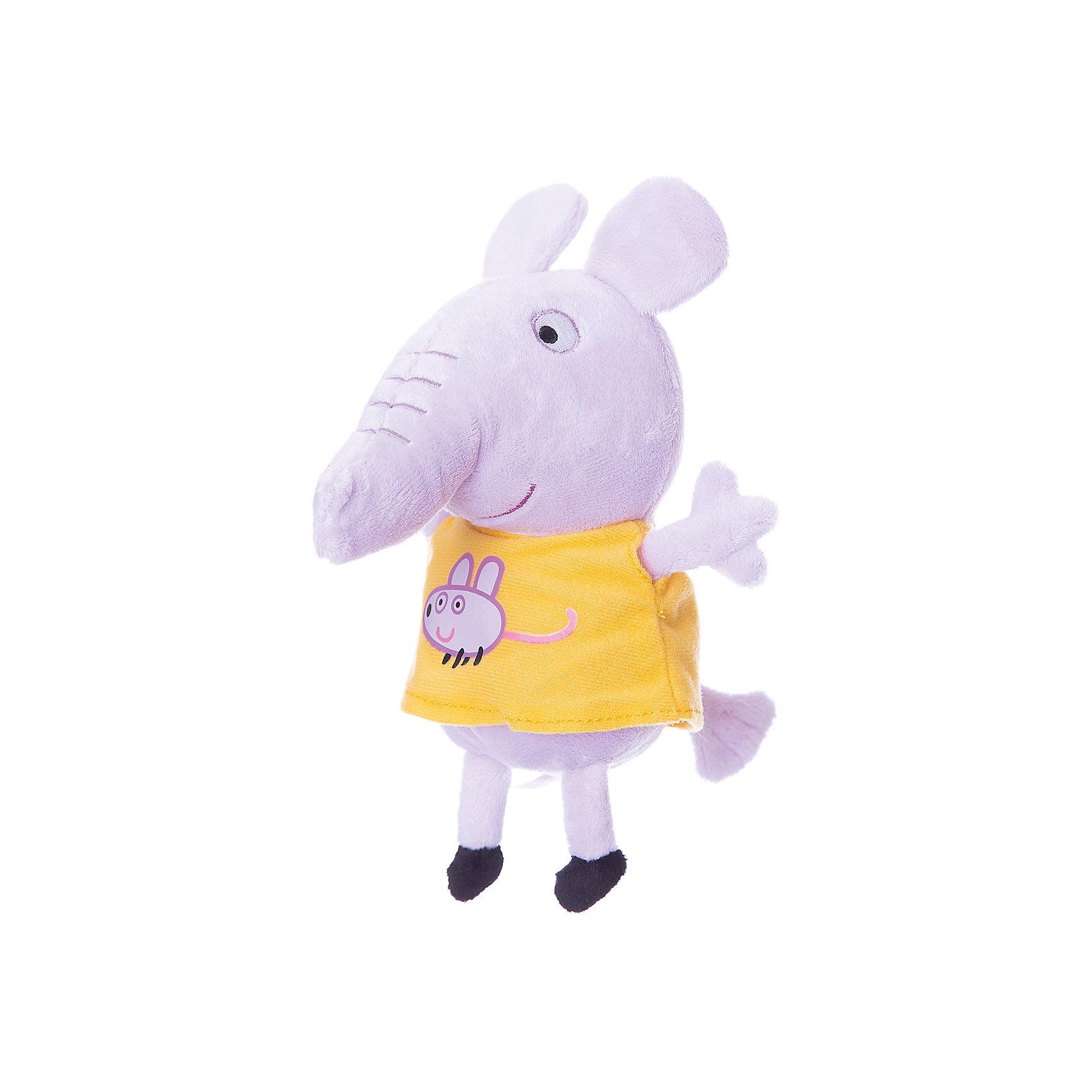 Мягкая игрушка Эмили с мышкой, 20см, Свинка ПеппаЛюбимые герои<br>Эмили с мышкой, Свинка Пеппа - чудесная мягкая игрушка, которая обязательно порадует Вашего малыша. Слоненок Эмили - очаровательная подружка свинки Пеппы из популярного детского мультсериала Peppa Pig, игрушка выполнена из мягкой и нежной велюровой ткани и очень похожа на свой оригинал из мультика. Глазки, носик и ротик Эмили выполнены в виде плотной вышивки, а ее желтое платьице украшено яркой аппликацией в виде мышки. Собрав вместе других персонажей из серии Peppa Pig можно придумать множество веселых игр, которые будут развивать воображение и навыки общения.<br><br>Дополнительная информация:<br><br>- Материал: велюр, гипоалергенный наполнитель.<br>- Высота игрушки: 20 см.<br>- Размер упаковки: 9 x 8 x 20 см. <br>- Вес: 60 гр.<br><br>Мягкую игрушку Эмили с мышкой, 20 см., Свинка Пеппа, можно купить в нашем интернет-магазине.<br><br>Ширина мм: 90<br>Глубина мм: 80<br>Высота мм: 200<br>Вес г: 60<br>Возраст от месяцев: 36<br>Возраст до месяцев: 72<br>Пол: Унисекс<br>Возраст: Детский<br>SKU: 4330045