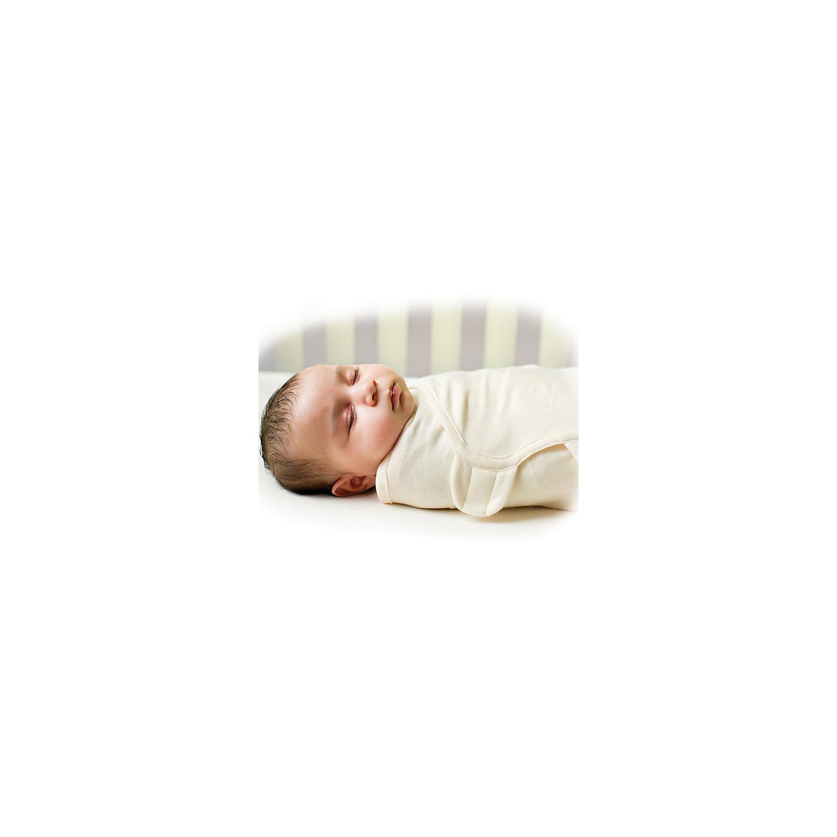 Конверт для пеленания на липучке, SWADDLEME® ORGANIC, р-р S/M, кремовый