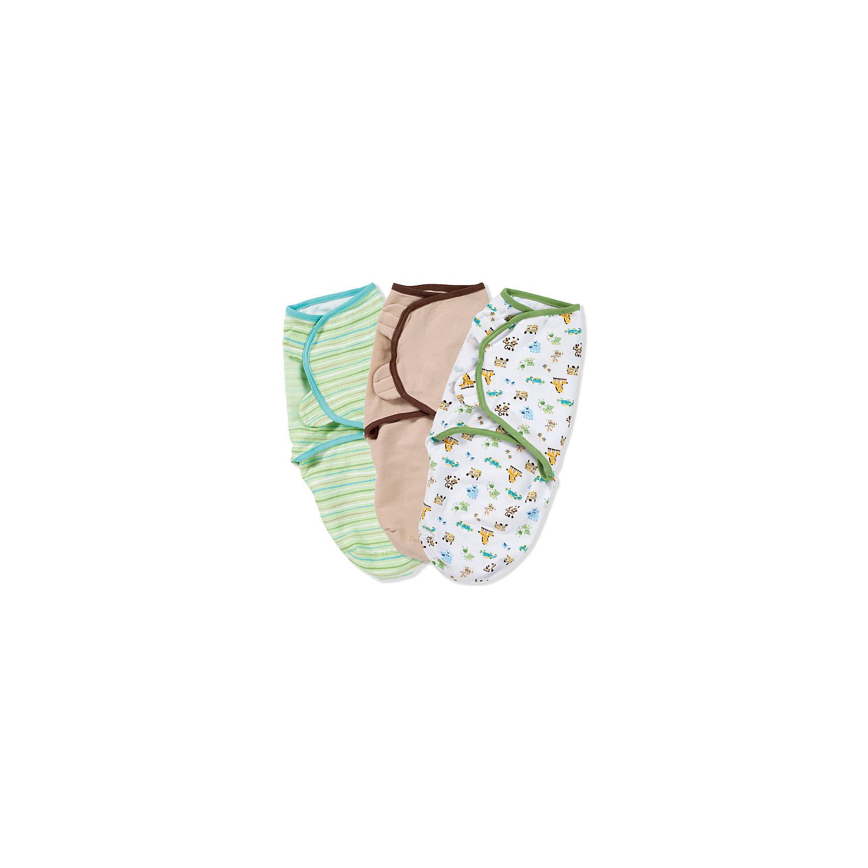 Конверт для пеленания на липучке, SWADDLEME®, р-р S/M, 3 шт., разноцветныйПеленание успокаивает новорожденных путем воссоздания знакомых ему чувств, как в утробе мамы.<br>Мягко облегая, конверт не ограничивает движение ребенка, и в тоже время помогает снизить рефлекс внезапного вздрагивания, благодаря этому сон малыша и родителей будет более крепким.<br>Регулируемые крылья для закрытия конверта сделаны таким образом, что даже самый активный ребенок не сможет распеленаться во время сна.<br>Объятия крыльев регулируются по мере роста ребенка.<br>Конверт можно открыть в области ног малыша для легкой смены подгузников - нет необходимости разворачивать детские ручки.<br>Состав: хлопок и нити эластана. <br>Длина конверта: 50 см (размер S/M). Подходит для малышей среднего размера от 3 до 7 кг<br><br>Ширина мм: 220<br>Глубина мм: 220<br>Высота мм: 50<br>Вес г: 540<br>Возраст от месяцев: 0<br>Возраст до месяцев: 6<br>Пол: Унисекс<br>Возраст: Детский<br>SKU: 4331815