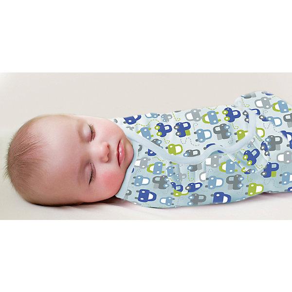 Конверт для пеленания на липучке, SWADDLEME®, р-р L, 3 шт., машинкиКонверты для пеленания<br>Пеленание успокаивает новорожденных путем воссоздания знакомых ему чувств, как в утробе мамы.<br>Мягко облегая, конверт не ограничивает движение ребенка, и в тоже время помогает снизить рефлекс внезапного вздрагивания, благодаря этому сон малыша и родителей будет более крепким.<br>Регулируемые крылья для закрытия конверта сделаны таким образом, что даже самый активный ребенок не сможет распеленаться во время сна.<br>Объятия крыльев регулируются по мере роста ребенка.<br>Конверт можно открыть в области ног малыша для легкой смены подгузников - нет необходимости разворачивать детские ручки.<br>Состав: хлопок и нити эластана <br>Длина конверта:  60 см<br>Подходит для малышей среднего размера от 6 до 10 кг  (размер L)<br>Ширина мм: 220; Глубина мм: 220; Высота мм: 50; Вес г: 540; Возраст от месяцев: 3; Возраст до месяцев: 9; Пол: Мужской; Возраст: Детский; SKU: 4331821;