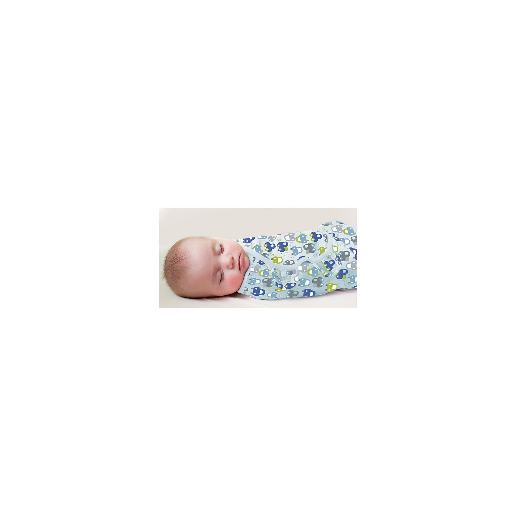 Конверт для пеленания на липучке, SWADDLEME®, р-р L, 3 шт., машинкиПеленание успокаивает новорожденных путем воссоздания знакомых ему чувств, как в утробе мамы.<br>Мягко облегая, конверт не ограничивает движение ребенка, и в тоже время помогает снизить рефлекс внезапного вздрагивания, благодаря этому сон малыша и родителей будет более крепким.<br>Регулируемые крылья для закрытия конверта сделаны таким образом, что даже самый активный ребенок не сможет распеленаться во время сна.<br>Объятия крыльев регулируются по мере роста ребенка.<br>Конверт можно открыть в области ног малыша для легкой смены подгузников - нет необходимости разворачивать детские ручки.<br>Состав: хлопок и нити эластана <br>Длина конверта:  60 см<br>Подходит для малышей среднего размера от 6 до 10 кг  (размер L)<br><br>Ширина мм: 220<br>Глубина мм: 220<br>Высота мм: 50<br>Вес г: 540<br>Возраст от месяцев: 3<br>Возраст до месяцев: 9<br>Пол: Мужской<br>Возраст: Детский<br>SKU: 4331821