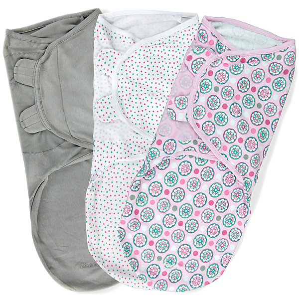 Конверт для пеленания на липучке, SWADDLEME®, р-р L, 3 шт., цветы розовыйКонверты для пеленания<br>Пеленание успокаивает новорожденных путем воссоздания знакомых ему чувств, как в утробе мамы.<br>Мягко облегая, конверт не ограничивает движение ребенка, и в тоже время помогает снизить рефлекс внезапного вздрагивания, благодаря этому сон малыша и родителей будет более крепким.<br>Регулируемые крылья для закрытия конверта сделаны таким образом, что даже самый активный ребенок не сможет распеленаться во время сна.<br>Объятия крыльев регулируются по мере роста ребенка.<br>Конверт можно открыть в области ног малыша для легкой смены подгузников - нет необходимости разворачивать детские ручки.<br>Состав: хлопок и нити эластана <br>Длина конверта:  60 см<br>Подходит для малышей среднего размера от 6 до 10 кг  (размер L)<br>Ширина мм: 220; Глубина мм: 220; Высота мм: 50; Вес г: 540; Возраст от месяцев: 3; Возраст до месяцев: 9; Пол: Женский; Возраст: Детский; SKU: 4331822;