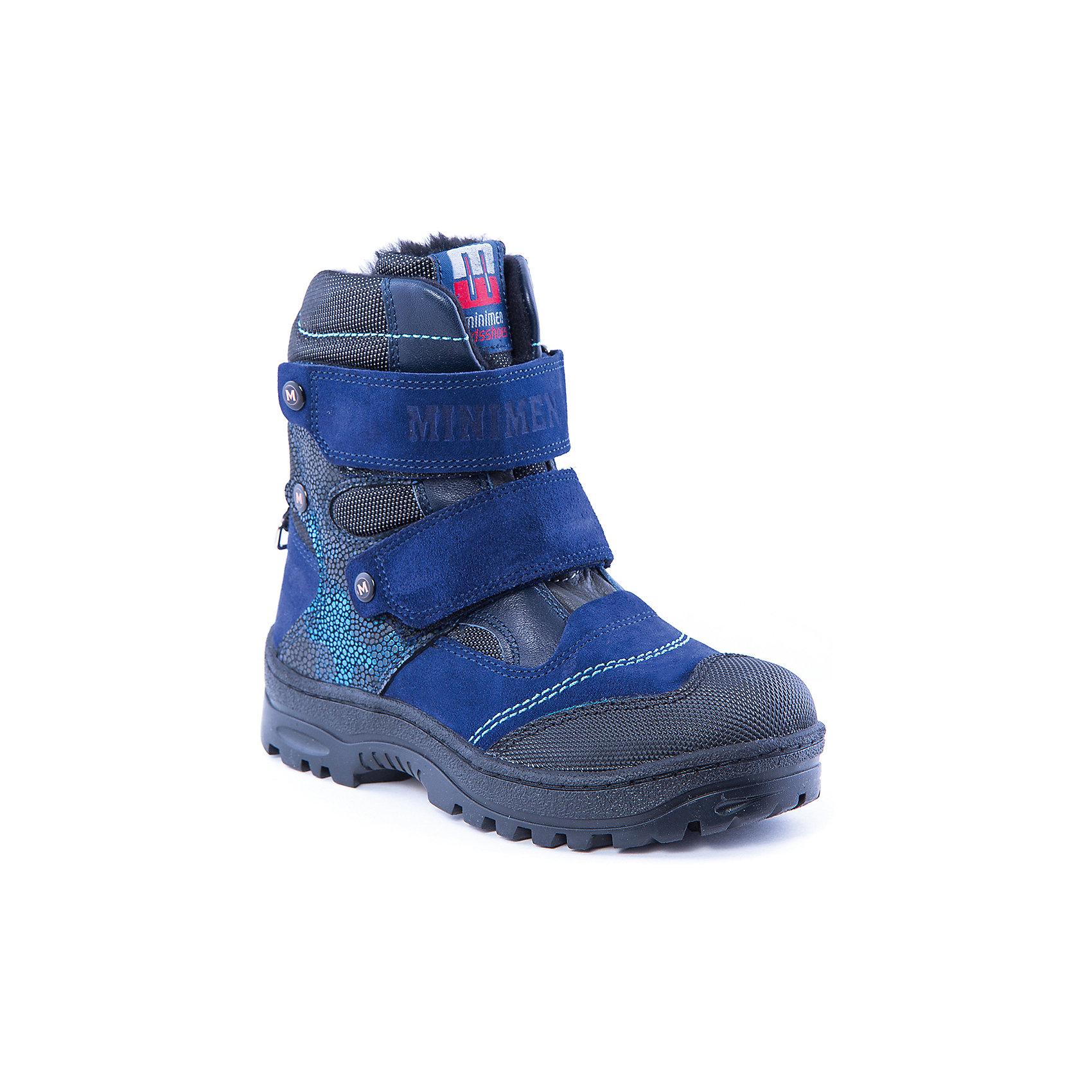 Полусапоги для мальчика MinimenПолусапоги для мальчика от известного бренда Minimen<br><br>Сапоги из натуральной кожи Minimen созданы для ношения в межсезонье и начинающиеся холода. Их форма тщательно проработана, поэтому детским ножкам в такой обуви тепло и комфортно. Качественные материалы позволяют сделать изделия износостойкими и удобными.<br><br>Отличительные особенности модели:<br><br>- цвет: синий;<br>- гибкая нескользящая подошва;<br>- усиленный носок и задник;<br>- эргономичная форма;<br>- удобная колодка;<br>- меховая подкладка;<br>- натуральная кожа;<br>- застежки-липучки.<br><br>Дополнительная информация:<br><br>Температурный режим: от - 15° С до +5° С.<br><br>Состав:<br>верх - 100% натуральная кожа<br>подкладка - 100% мех<br>подошва -ТЭП<br><br>Полусапоги для мальчика Minimen (Минимен) можно купить в нашем магазине.<br><br>Ширина мм: 257<br>Глубина мм: 180<br>Высота мм: 130<br>Вес г: 420<br>Цвет: синий<br>Возраст от месяцев: 60<br>Возраст до месяцев: 72<br>Пол: Мужской<br>Возраст: Детский<br>Размер: 29,30,31,33,34,35,32<br>SKU: 4334454