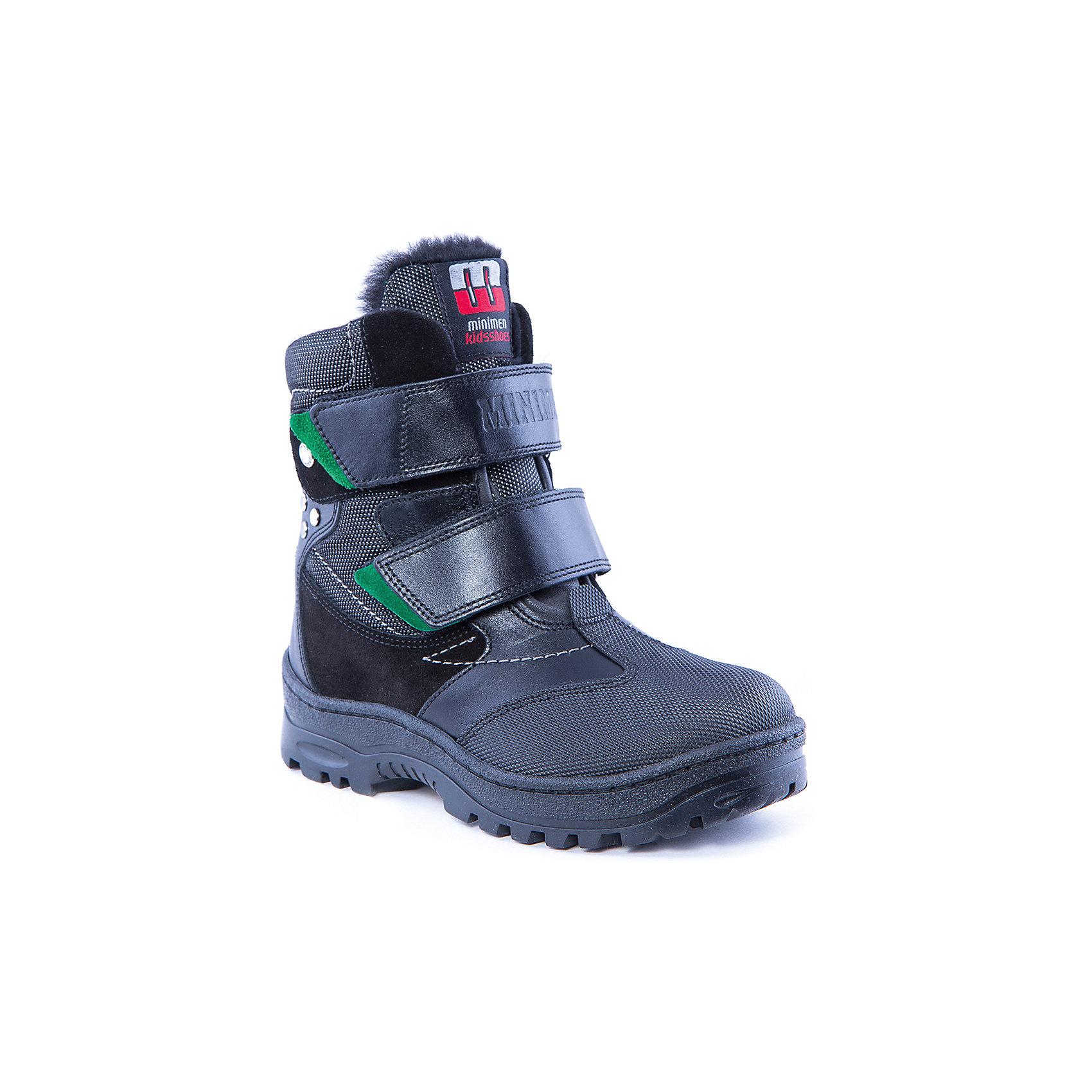 Полусапоги для мальчика MinimenПолусапоги для мальчика от известного бренда Minimen<br><br>Модные сапоги Minimen созданы для ношения в межсезонье и начинающиеся холода. Их форма тщательно проработана, поэтому детским ножкам в такой обуви тепло и комфортно. Качественные материалы позволяют сделать изделия износостойкими и удобными.<br><br>Отличительные особенности модели:<br><br>- цвет: черный;<br>- гибкая нескользящая подошва;<br>- усиленный носок и задник;<br>- эргономичная форма;<br>- удобная колодка;<br>- меховая подкладка;<br>- натуральная кожа;<br>- застежки-липучки.<br><br>Дополнительная информация:<br><br>Температурный режим: от - 15° С до +5° С.<br><br>Состав:<br>верх - 100% натуральная кожа<br>подкладка - 100% мех<br>подошва - ТЭП<br><br>Полусапоги для мальчика Minimen (Минимен) можно купить в нашем магазине.<br><br>Ширина мм: 257<br>Глубина мм: 180<br>Высота мм: 130<br>Вес г: 420<br>Цвет: черный<br>Возраст от месяцев: 84<br>Возраст до месяцев: 96<br>Пол: Мужской<br>Возраст: Детский<br>Размер: 31,30,29,35,34,33,32<br>SKU: 4334462