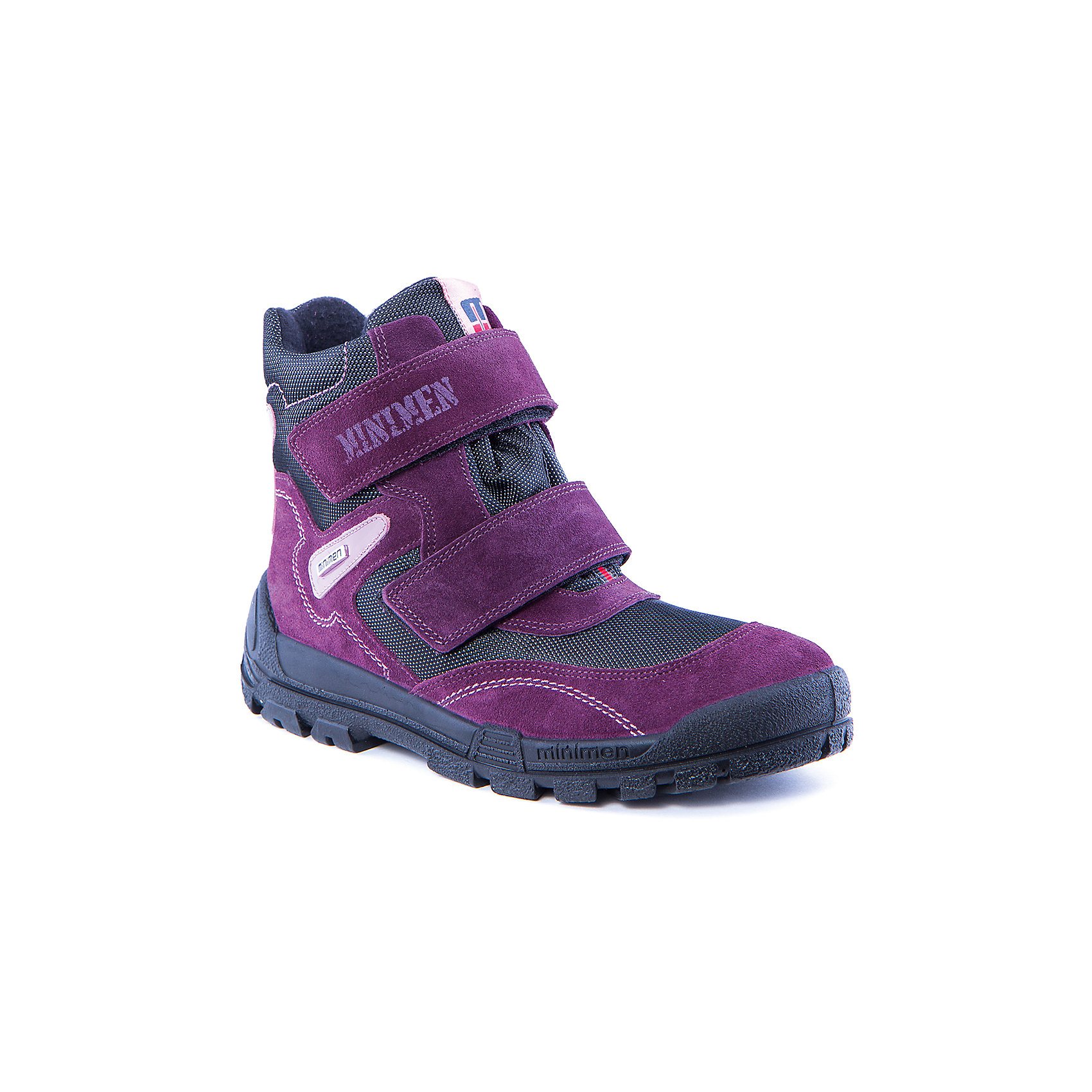 Полусапоги для девочки MinimenПолусапоги для мальчика от известного бренда Minimen<br><br>Удобные и модные полусапоги Minimen созданы для ношения в межсезонье и начинающиеся холода. Их форма тщательно проработана, поэтому детским ножкам в такой обуви тепло и комфортно. Качественные материалы позволяют сделать изделия износостойкими и удобными.<br><br>При создании этой модели использована мембрана SympaTex. Она добавляется в подкладку обуви и позволяют ногам оставаться сухими и теплыми. Мембрана активно отводит влагу наружу, и не дает жидкости проникать внутрь, а также  не создает препятствий для воздуха, обеспечивая комфортные условия для детских ножек.<br><br>Отличительные особенности модели:<br><br>- цвет: фиолетовый;<br>- гибкая нескользящая подошва;<br>- усиленный носок и задник;<br>- эргономичная форма;<br>- удобная колодка;<br>- шерстяная подкладка;<br>- натуральная кожа;<br>- застежки-липучки.<br><br>Дополнительная информация:<br><br>Температурный режим: от - 15° С до +5° С.<br><br>Состав:<br>верх - 100% натуральная кожа<br>подкладка - 100% текстиль<br>подошва - ПУ<br><br>Полусапоги для девочки Minimen (Минимен) можно купить в нашем магазине.<br><br>Ширина мм: 257<br>Глубина мм: 180<br>Высота мм: 130<br>Вес г: 420<br>Цвет: фиолетовый<br>Возраст от месяцев: 156<br>Возраст до месяцев: 168<br>Пол: Женский<br>Возраст: Детский<br>Размер: 37,34,38,36,35<br>SKU: 4334470