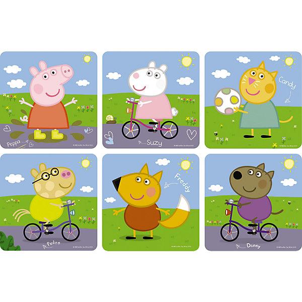 Пазл 6 в 1, Свинка ПеппаПазлы для малышей<br>Пазл 6 в 1, Свинка Пеппа - это шесть увлекательных пазлов, созданные для детей, которые любят с интересом и пользой проводить время.<br>Яркие и красочные пазлы сделаны по мотивам мультсериала о приключениях симпатичной маленькой свинки Пеппы. С помощью входящих в набор деталей ваш ребенок сможет шесть красочных картинок с изображением свинки Пеппы и ее друзей. Детали прекрасно соединяются между собой, не расслаиваются и не ломаются при сборке. Эта головоломка позволит ребенку развить мелкую моторику рук, терпение, усидчивость, зрительную память и научит мыслить логически.<br><br>Дополнительная информация:<br><br>- Материал: картон<br>- Размер коробки: 18x5x18 мм.<br>- Вес: 178 гр.<br><br>Пазл 6 в 1, Свинка Пеппа можно купить в нашем интернет-магазине.<br>Ширина мм: 180; Глубина мм: 50; Высота мм: 180; Вес г: 178; Возраст от месяцев: 36; Возраст до месяцев: 96; Пол: Унисекс; Возраст: Детский; SKU: 4335006;