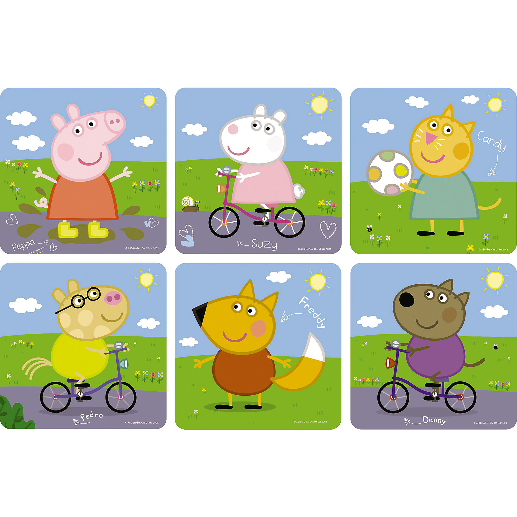 Пазл 6 в 1, Свинка ПеппаПазл 6 в 1, Свинка Пеппа - это шесть увлекательных пазлов, созданные для детей, которые любят с интересом и пользой проводить время.<br>Яркие и красочные пазлы сделаны по мотивам мультсериала о приключениях симпатичной маленькой свинки Пеппы. С помощью входящих в набор деталей ваш ребенок сможет шесть красочных картинок с изображением свинки Пеппы и ее друзей. Детали прекрасно соединяются между собой, не расслаиваются и не ломаются при сборке. Эта головоломка позволит ребенку развить мелкую моторику рук, терпение, усидчивость, зрительную память и научит мыслить логически.<br><br>Дополнительная информация:<br><br>- Материал: картон<br>- Размер коробки: 18x5x18 мм.<br>- Вес: 178 гр.<br><br>Пазл 6 в 1, Свинка Пеппа можно купить в нашем интернет-магазине.<br><br>Ширина мм: 180<br>Глубина мм: 50<br>Высота мм: 180<br>Вес г: 178<br>Возраст от месяцев: 36<br>Возраст до месяцев: 96<br>Пол: Унисекс<br>Возраст: Детский<br>SKU: 4335006