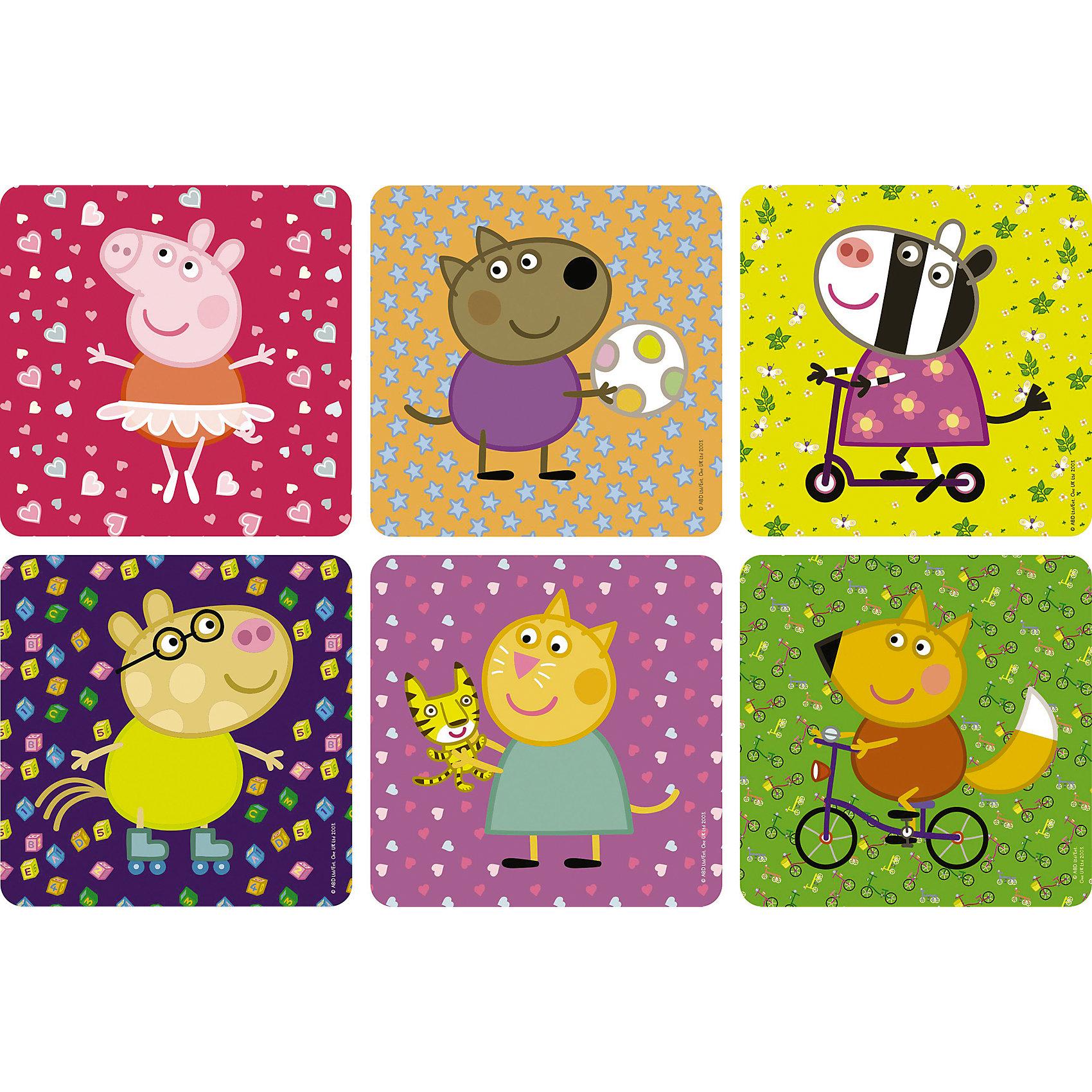 Пазл 6 в 1, Свинка ПеппаПазлы для малышей<br>Пазл 6 в 1, Свинка Пеппа - это шесть увлекательных пазлов, созданные для детей, которые любят с интересом и пользой проводить время.<br>Яркие и красочные пазлы сделаны по мотивам мультсериала о приключениях симпатичной маленькой свинки Пеппы. С помощью входящих в набор деталей ваш ребенок сможет шесть красочных картинок с изображением свинки Пеппы и ее друзей. Детали прекрасно соединяются между собой, не расслаиваются и не ломаются при сборке. Эта головоломка позволит ребенку развить мелкую моторику рук, терпение, усидчивость, зрительную память и научит мыслить логически.<br><br>Дополнительная информация:<br><br>- Материал: картон<br>- Размер коробки: 18x5x18 мм.<br>- Вес: 178 гр.<br><br>Пазл 6 в 1, Свинка Пеппа можно купить в нашем интернет-магазине.<br><br>Ширина мм: 180<br>Глубина мм: 50<br>Высота мм: 180<br>Вес г: 178<br>Возраст от месяцев: 36<br>Возраст до месяцев: 96<br>Пол: Унисекс<br>Возраст: Детский<br>SKU: 4335007