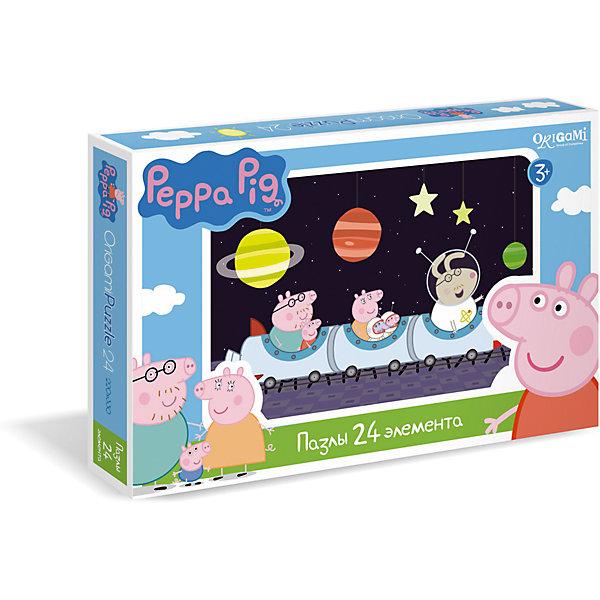 Пазл Космос, 24 детали, Свинка ПеппаПопулярные игрушки<br>Пазл Космос, 24 детали, Свинка Пеппа - это увлекательный пазл с крупными яркими деталями.<br>Пазл Космос создан по мотивам мультсериала о приключениях симпатичной маленькой свинки Пеппы. В нем 24 больших деталей, поэтому малыш без труда сможет собрать картинку, ориентируясь на изображение, которое имеется на коробке. Собрав пазл, ребенок получит красивую картинку, на которой Свинка Пеппа, Джордж и папа Свин отправляются в космическое путешествие. Эта головоломка позволит ребенку развить мелкую моторику рук, терпение, усидчивость, зрительную память и научит мыслить логически.<br><br>Дополнительная информация:<br><br>- В наборе: 24 детали<br>- Размер собранного пазла: 33х22 см.<br>- Материал: картон<br>- Размер коробки: 29,2x3,8x19 мм.<br>- Вес: 140 гр.<br><br>Пазл Космос, 24 детали, Свинка Пеппа можно купить в нашем интернет-магазине.<br>Ширина мм: 292; Глубина мм: 38; Высота мм: 190; Вес г: 140; Возраст от месяцев: 36; Возраст до месяцев: 96; Пол: Унисекс; Возраст: Детский; Количество деталей: 24; SKU: 4335009;