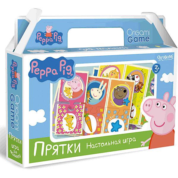 Развивающая игра Прятки , Свинка ПеппаЛото<br>Развивающая игра Прятки , Свинка Пеппа – это интересная настольная игра, которая обязательно увлечет вашего малыша.<br>Прятки - это игра, способствующая развитию памяти и внимательности. Ребенку нужно найти совпадения картинок по цвету и рисунку, а пазловые замки не дадут совершить ошибку: неподходящие друг к другу элементы не состыкуются. Озвучивайте действия ребенка, так ему будет легче запомнить названия предметов, цветов и героев мультсериала «Свинка Пеппа».<br><br>Дополнительная информация:<br><br>- В наборе: 24 карточки с пазловыми замками<br>- Материал: картон<br>- Размер коробки: 22x20x5 мм.<br>- Вес: 175 гр.<br><br>Развивающую игру Прятки, Свинка Пеппа можно купить в нашем интернет-магазине.<br>Ширина мм: 220; Глубина мм: 200; Высота мм: 50; Вес г: 175; Возраст от месяцев: 36; Возраст до месяцев: 96; Пол: Унисекс; Возраст: Детский; SKU: 4335015;
