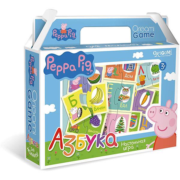 Игра Азбука, Свинка ПеппаКасса букв<br>Игра Азбука, Свинка Пеппа – это интересная настольная игра, которая обязательно увлечет вашего малыша и поможет ему освоить алфавит.<br>Увлекательная настольная игра Азбука познакомит ребенка с буквами русского алфавита. В набор входят парные карточки: буква и предмет, название которого начинается с этой буквы. Все карточки снабжены пазловыми замками, поэтому ребенок не сможет совершить ошибку в решении и совместить неподходящие друг другу детали. Это игра поможет улучшить свои знания тем, кто уже знает азбуку, и научит тех, кто только начинает учить алфавит.<br><br>Дополнительная информация:<br><br>- В наборе: 64 карточки с пазловыми замками<br>- Материал: картон<br>- Размер коробки: 22x20x5 мм.<br>- Вес: 175 гр.<br><br>Игру Азбука, Свинка Пеппа можно купить в нашем интернет-магазине.<br>Ширина мм: 220; Глубина мм: 200; Высота мм: 50; Вес г: 175; Возраст от месяцев: 36; Возраст до месяцев: 96; Пол: Унисекс; Возраст: Детский; SKU: 4335016;