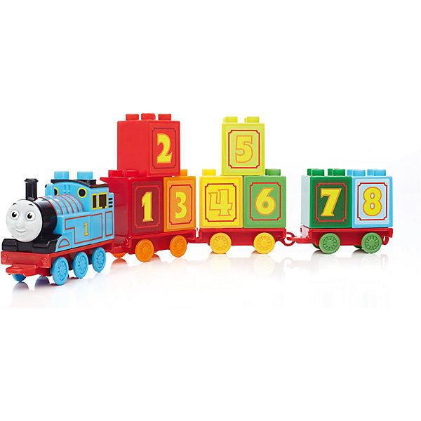 Паровозик Томас и его друзья MEGA BLOKSПластмассовые конструкторы<br>Красочный набор совмещает в себе конструктор и увлекательную развивающую игрушку. Соберите  локомотив с цифрой 1 и присоедините к нему состав из разноцветных вагончиков на колесной основе, пронумерованных цифрами от 1 до 10. В комплект также входят детали для сборки больших ворот, которые можно использовать для обучения ребенка. Набор способствует развитию у ребенка логического мышления, творческих способностей и фантазии. Совместим с другими наборами серии MEGA BLOKS (Мегаблокс) Томас и его друзья.<br><br>Дополнительная информация:<br><br>- Количество деталей: 35.<br>- Материал: пластик.<br>- Размер упаковки: 20,5x35,5x9 см.<br>- Вес: 0,67 кг.<br><br>Обучающий паровозик Томас и его друзья, MEGA BLOKS (Мегаблокс), можно купить в нашем интернет-магазине.<br><br>Ширина мм: 205<br>Глубина мм: 355<br>Высота мм: 90<br>Вес г: 670<br>Возраст от месяцев: 12<br>Возраст до месяцев: 72<br>Пол: Мужской<br>Возраст: Детский<br>SKU: 4336739