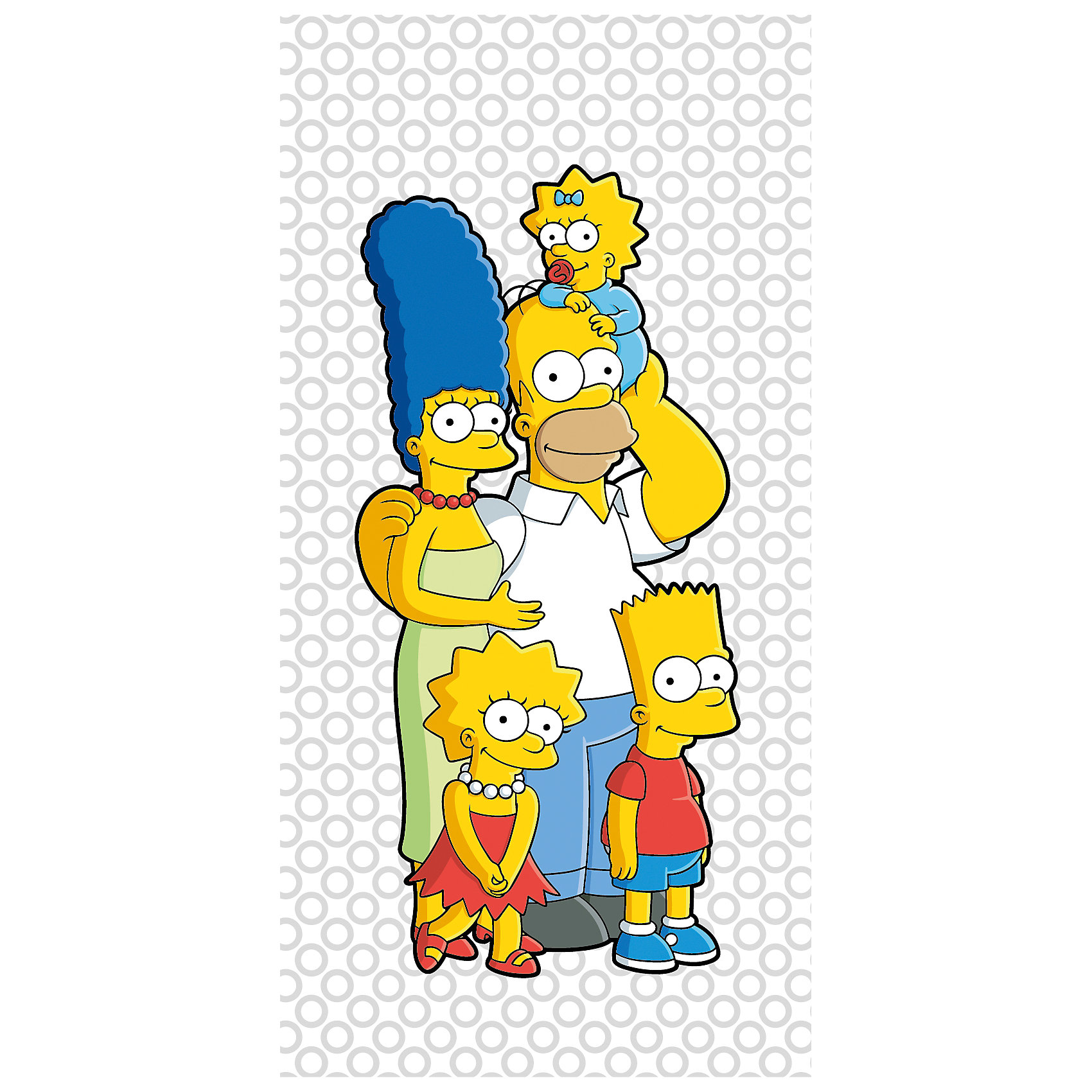 Полотенце Семейка Simpsons 70*140 см, СимпсоныМягкое, уютное полотенце прекрасно впитывает влагу и очень приятно к телу. Детям понравятся яркие изображения любимых персонажей. Полотенце выполнено из натурального хлопка, прекрасно сохраняет цвет и свойства после многократных стирок, остается таким же ярким, мягким и пушистым. <br><br>Дополнительная информация:<br><br>- Размер: 70х140 см.<br>- Материал: 100% хлопок. <br><br>Полотенце Семейка Simpsons 70х140 см, Симпсоны, можно купить в нашем магазине.<br><br>Ширина мм: 600<br>Глубина мм: 250<br>Высота мм: 10<br>Вес г: 350<br>Возраст от месяцев: 60<br>Возраст до месяцев: 180<br>Пол: Унисекс<br>Возраст: Детский<br>SKU: 4337514