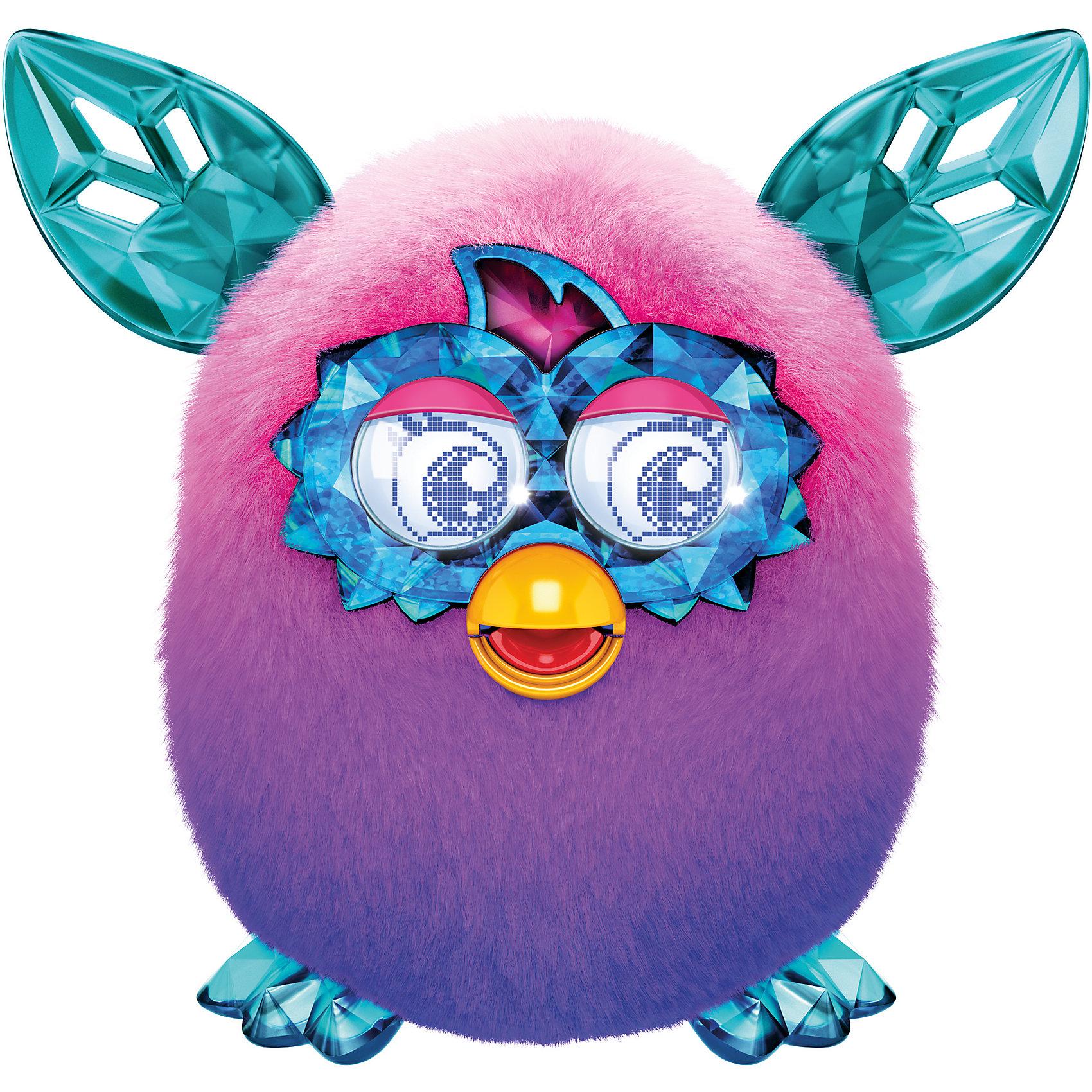Интерактивная игрушка Furby Crystal (Ферби Кристал) Сиренево-розовыйИнтерактивная игрушка Furby Crystal (Ферби Кристал) Сиренево-розовый - это уникальная игрушка, которая станет отличным подарком для детей.<br>Ты только посмотри на этого красавца! Мохнатые любимцы вновь изменили образ! Фёрби Кристал имеют совершенно новый контент и, как все Фёрби обладают разными кристальными характерами - Принцесса, Болтун, Музыкант, Злюка, Сумасшедший. Питомец разговаривает на фербише и на русском языке. Со временем он также выучит и новые слова и фразы. А еще твой любимец сможет запомнить свое имя и имена своих друзей, с которыми будет общаться. У него очень яркая и красивая шубка с нежными переливами, резные ушки и симпатичная мордашка. Уши, лапки и глаза выглядят как кристаллы, отчего малыш и получил такое название. Глаза у нового Furby Cristal стали еще более функциональными и с более богатой анимацией. У этого малыша есть масса интересных функций. Он умеет размножаться в виртуальном пространстве. Посмотри, из яйца вылупился маленький Ферблинг, который будет с удовольствием общаться со своим родителем. Только существа из коллекции Ферби Кристалл, такие радужные и непредсказуемые, и умеют играть с бесплатным новым приложением!<br><br>Дополнительная информация:<br><br>- Высота: 13 см.<br>- Цвет: сиренево-розовый<br>- Материал: пластмасса, текстиль<br>- Батарейки: 4 типа 1,5 V AA (в комплект не входят)<br>- Размер упаковки: 20 x 20 x 12 см.<br>- Вес: 765 гр.<br><br>Интерактивную игрушку Furby Crystal (Ферби Кристал) Сиренево-розовый можно купить в нашем интернет-магазине.<br><br>Ширина мм: 124<br>Глубина мм: 200<br>Высота мм: 225<br>Вес г: 765<br>Возраст от месяцев: 72<br>Возраст до месяцев: 1188<br>Пол: Унисекс<br>Возраст: Детский<br>SKU: 4339228
