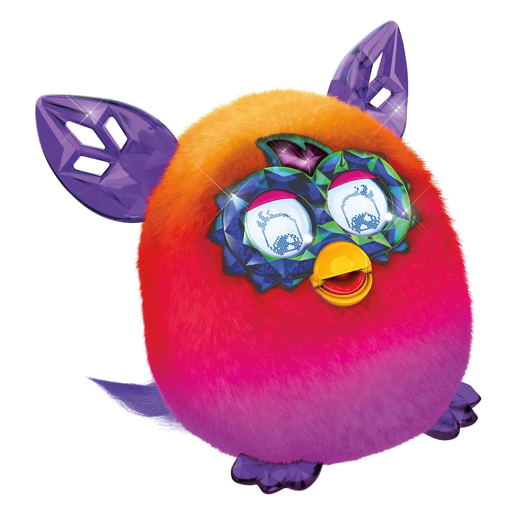Интерактивная игрушка Furby Crystal (Ферби Кристал) Розово-оранжевыйИнтерактивная игрушка Furby Crystal (Ферби Кристал) Розово-оранжевый - это уникальная игрушка, которая станет отличным подарком для детей.<br>Ты только посмотри на этого красавца! Мохнатые любимцы вновь изменили образ! Фёрби Кристал имеют совершенно новый контент и, как все Фёрби обладают разными кристальными характерами - Принцесса, Болтун, Музыкант, Злюка, Сумасшедший. Питомец разговаривает на фербише и на русском языке. Со временем он также выучит и новые слова и фразы. А еще твой любимец сможет запомнить свое имя и имена своих друзей, с которыми будет общаться. У него очень яркая и красивая шубка с нежными переливами, резные ушки и симпатичная мордашка. Уши, лапки и глаза выглядят как кристаллы, отчего малыш и получил такое название. Глаза у нового Furby Cristal стали еще более функциональными и с более богатой анимацией. У этого малыша есть масса интересных функций. Он умеет размножаться в виртуальном пространстве. Посмотри, из яйца вылупился маленький Ферблинг, который будет с удовольствием общаться со своим родителем. Только существа из коллекции Ферби Кристалл, такие радужные и непредсказуемые, и умеют играть с бесплатным новым приложением!<br><br>Дополнительная информация:<br><br>- Высота: 13 см.<br>- Цвет: розово-оранжевый<br>- Материал: пластмасса, текстиль<br>- Батарейки: 4 типа 1,5 V AA (в комплект не входят)<br>- Размер упаковки: 20 x 20 x 12 см.<br>- Вес: 765 гр.<br><br>Интерактивную игрушку Furby Crystal (Ферби Кристал) Розово-оранжевый можно купить в нашем интернет-магазине.<br><br>Ширина мм: 124<br>Глубина мм: 200<br>Высота мм: 225<br>Вес г: 765<br>Возраст от месяцев: 72<br>Возраст до месяцев: 1188<br>Пол: Унисекс<br>Возраст: Детский<br>SKU: 4339229