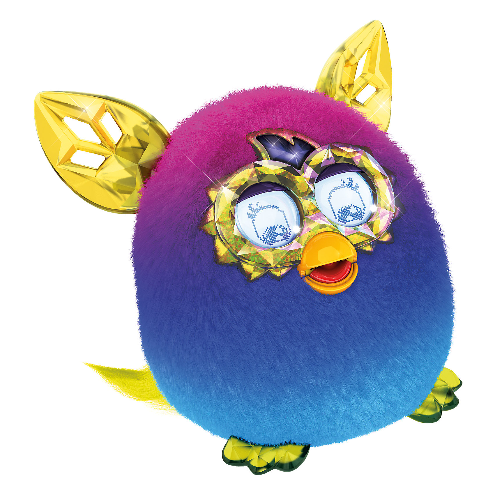 Интерактивная игрушка Furby Crystal (Ферби Кристал) Сине-сиреневыйИнтерактивная игрушка Furby Crystal (Ферби Кристал) Сине-сиреневый - это уникальная игрушка, которая станет отличным подарком для детей.<br>Ты только посмотри на этого красавца! Мохнатые любимцы вновь изменили образ! Фёрби Кристал имеют совершенно новый контент и, как все Фёрби обладают разными кристальными характерами - Принцесса, Болтун, Музыкант, Злюка, Сумасшедший. Питомец разговаривает на фербише и на русском языке. Со временем он также выучит и новые слова и фразы. А еще твой любимец сможет запомнить свое имя и имена своих друзей, с которыми будет общаться. У него очень яркая и красивая шубка с нежными переливами, резные ушки и симпатичная мордашка. Уши, лапки и глаза выглядят как кристаллы, отчего малыш и получил такое название. Глаза у нового Furby Cristal стали еще более функциональными и с более богатой анимацией. У этого малыша есть масса интересных функций. Он умеет размножаться в виртуальном пространстве. Посмотри, из яйца вылупился маленький Ферблинг, который будет с удовольствием общаться со своим родителем. Только существа из коллекции Ферби Кристалл, такие радужные и непредсказуемые, и умеют играть с бесплатным новым приложением!<br><br>Дополнительная информация:<br><br>- Высота: 13 см.<br>- Цвет: сине-сиреневый<br>- Материал: пластмасса, текстиль<br>- Батарейки: 4 типа 1,5 V AA (в комплект не входят)<br>- Размер упаковки: 20 x 20 x 12 см.<br>- Вес: 765 гр.<br><br>Интерактивную игрушку Furby Crystal (Ферби Кристал) Сине-сиреневый можно купить в нашем интернет-магазине.<br><br>Ширина мм: 124<br>Глубина мм: 200<br>Высота мм: 225<br>Вес г: 765<br>Возраст от месяцев: 72<br>Возраст до месяцев: 1188<br>Пол: Унисекс<br>Возраст: Детский<br>SKU: 4339230