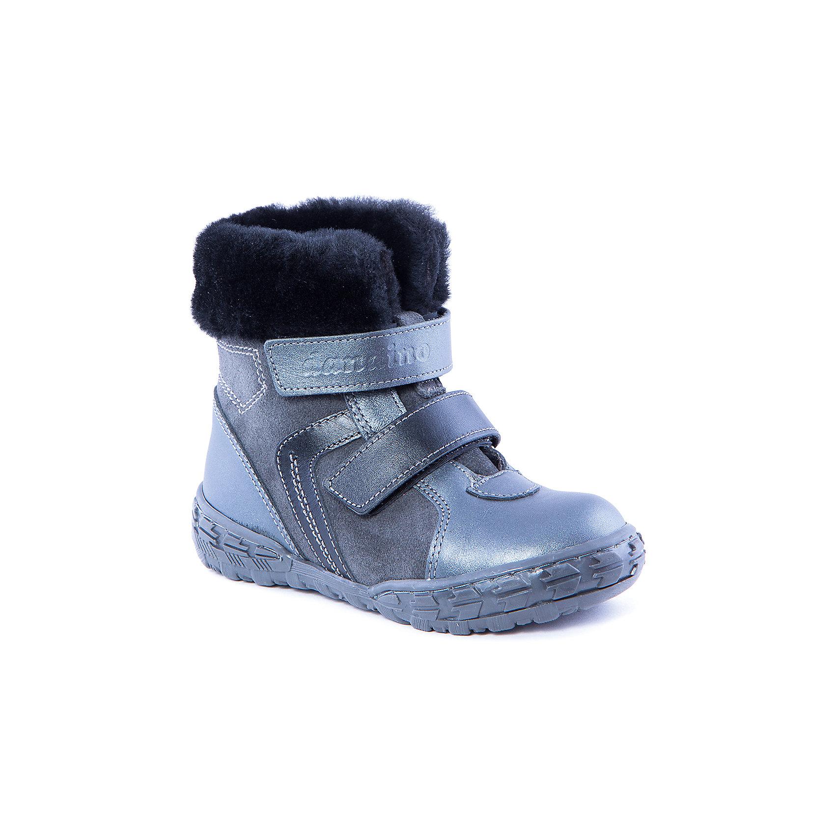 Полусапожки  для мальчика DandinoПолусапожки  для мальчика от известного российского бренда  Dandino<br><br>Модные полусапожки помогут детской стопе формироваться правильно. Компания Dandino использует при производстве своей ортопедической обуви подтвержденные технологии и качественные материалы. <br>Натуральная телячья кожа, которая применяется для изготовления ботинок и сапожек позволяет обеспечить комфорт и предотвратить натирание. Изделия легко надеваются и комфортно садятся по ноге.<br><br>Особенности модели: <br><br>- цвет - серый;<br>- меховая опушка;<br>- натуральный мех в качестве подкладки;<br>- верх – натуральная кожа;<br>- контрастная прошивка;<br>- комфортная колодка;<br>- жесткий задник;<br>- защита пальцев;<br>- амортизирующая устойчивая подошва;<br>- застежки - две липучки.<br><br>Дополнительная информация:<br><br>Температурный режим: <br><br>от -25° С до -0° С<br><br>Состав:<br><br>верх – натуральная кожа;<br>подкладка - натуральный мех;<br>подошва - ТЭП.<br><br>Полусапожки для мальчика от бренда Dandino (Дандино) можно купить в нашем магазине.<br><br>Ширина мм: 257<br>Глубина мм: 180<br>Высота мм: 130<br>Вес г: 420<br>Цвет: серый<br>Возраст от месяцев: 36<br>Возраст до месяцев: 48<br>Пол: Мужской<br>Возраст: Детский<br>Размер: 27,26,28,30,29<br>SKU: 4339280