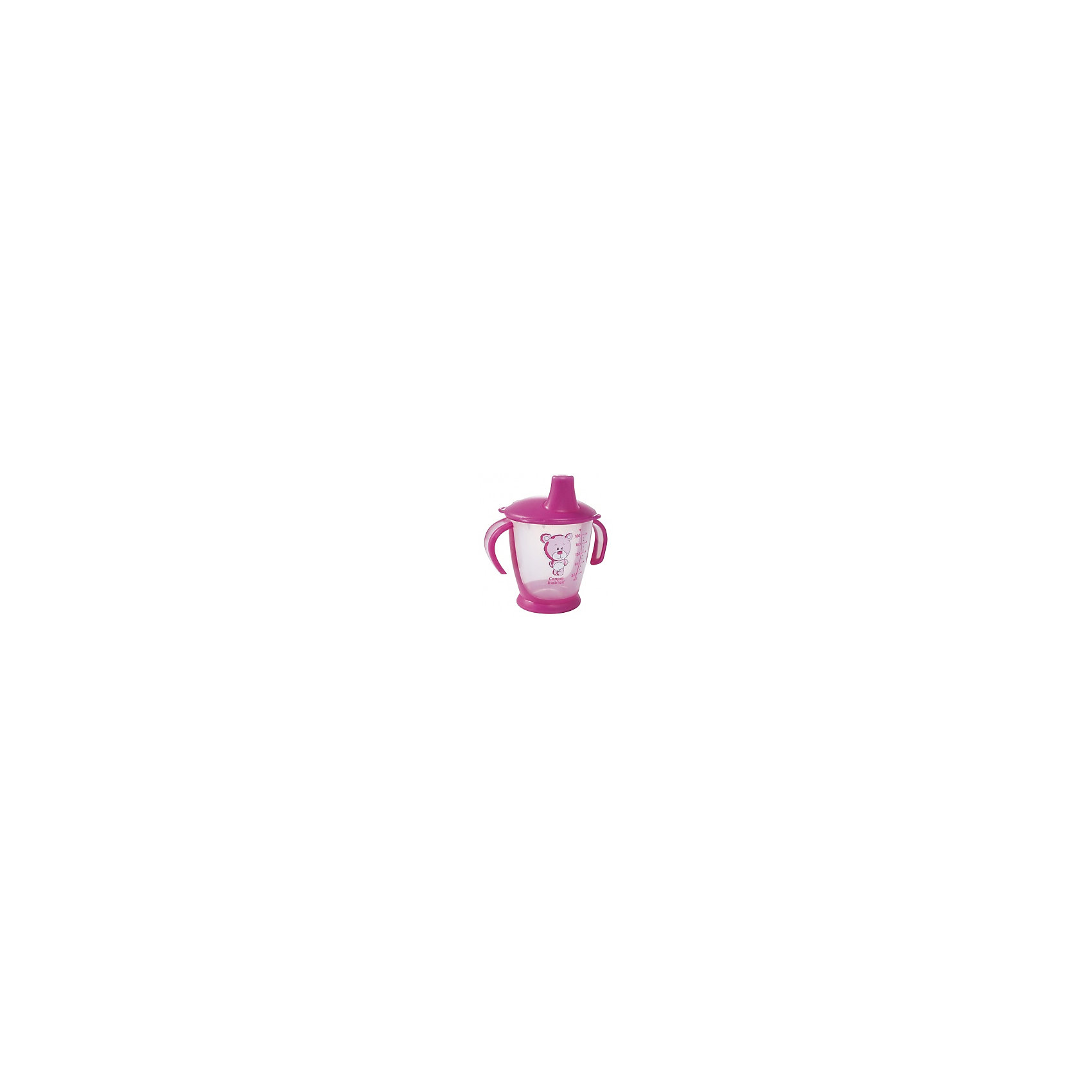 Поильник-непроливайка Медвежонок, 250 мл., Canpol Babies, розовыйПоильники<br>Поильник-непроливайка Медвежонок от Canpol (Канпол) в ассортименте идеально подойдет для малышей, которые учатся пить из чашки. Удобные фигурные ручки позволяют ребенку легко держать поильник. Герметичная крышка оснащена специальным мягким носиком для питья, который не раздражает десны малыша и помогает ему комфортно перейти от кормления из бутылочки к питью из чашки.<br><br>Специальные клапаны предотвращают проливание жидкости, если поильник упадет или перевернется. Нескользящее дно обеспечивает поильнику устойчивое положение. Когда ребенок подрастет крышку можно снять и использовать поильник как обычную чашку. Поильник имеет яркий привлекательный для ребенка дизайн и украшен забавным рисунком медвежонка, имеется шкала с делениями, показывающая объем налитой жидкости.<br><br>Дополнительная информация:<br><br>- Материал: полипропилен.<br>- Объем: 250 мл.<br>- Размер упаковки: 15 х 11 х 9 см.<br>- Вес: 71 гр.<br><br>Поильник-непроливайку Медвежонок, Canpol (Канпол) можно купить в нашем интернет-магазине.<br><br>Ширина мм: 150<br>Глубина мм: 114<br>Высота мм: 90<br>Вес г: 88<br>Цвет: розовый<br>Возраст от месяцев: 9<br>Возраст до месяцев: 36<br>Пол: Женский<br>Возраст: Детский<br>SKU: 4340051