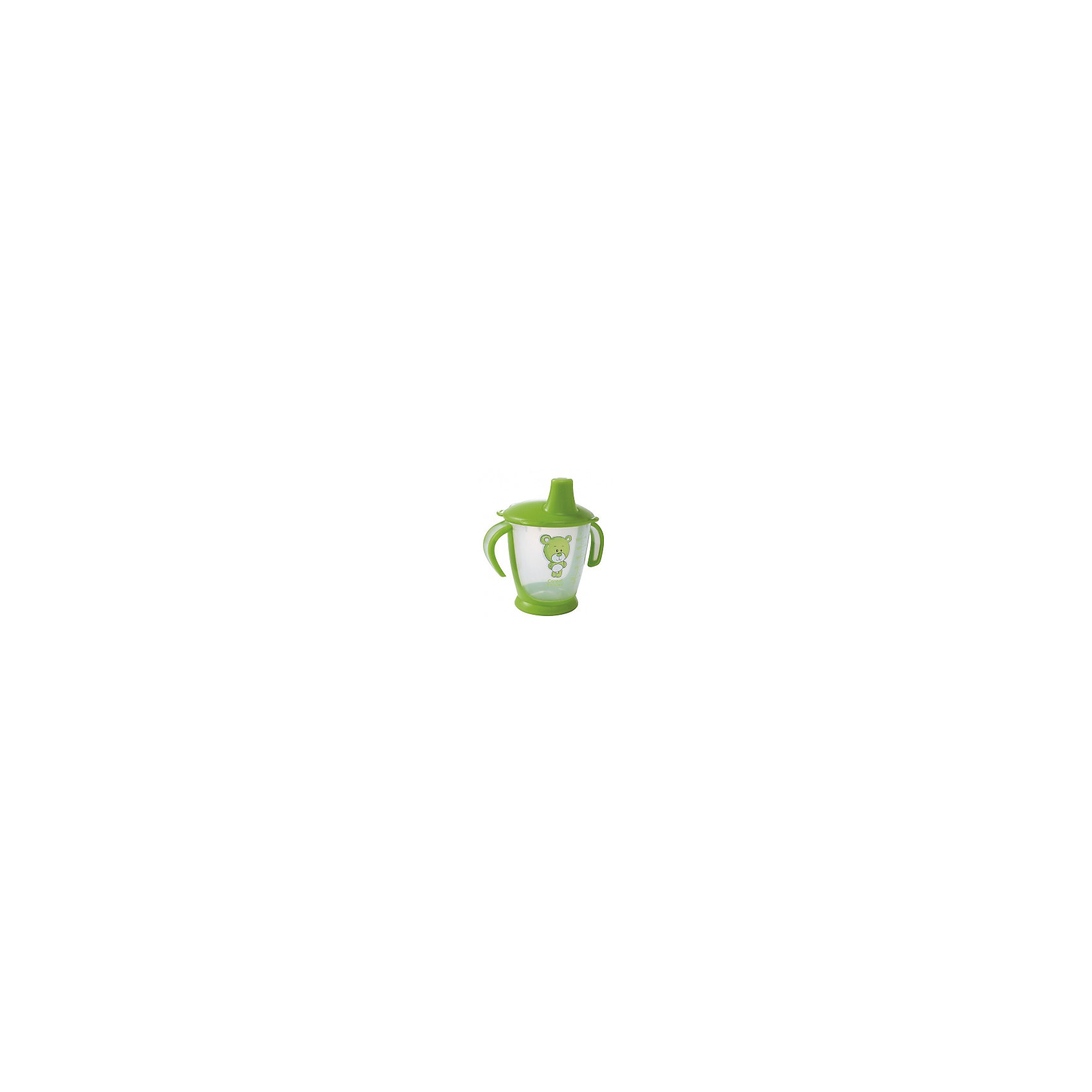 Поильник-непроливайка Медвежонок, 250 мл., Canpol Babies, зеленыйПоильники<br>Поильник-непроливайка Медвежонок от Canpol (Канпол) в ассортименте идеально подойдет для малышей, которые учатся пить из чашки. Удобные фигурные ручки позволяют ребенку легко держать поильник. Герметичная крышка оснащена специальным мягким носиком для питья, который не раздражает десны малыша и помогает ему комфортно перейти от кормления из бутылочки к питью из чашки.<br><br>Специальные клапаны предотвращают проливание жидкости, если поильник упадет или перевернется. Нескользящее дно обеспечивает поильнику устойчивое положение. Когда ребенок подрастет крышку можно снять и использовать поильник как обычную чашку. Поильник имеет яркий привлекательный для ребенка дизайн и украшен забавным рисунком медвежонка, имеется шкала с делениями, показывающая объем налитой жидкости.<br><br>Дополнительная информация:<br><br>- Материал: полипропилен.<br>- Объем: 250 мл.<br>- Размер упаковки: 15 х 11 х 9 см.<br>- Вес: 71 гр.<br><br>Поильник-непроливайку Медвежонок, Canpol (Канпол) можно купить в нашем интернет-магазине.<br><br>Ширина мм: 150<br>Глубина мм: 114<br>Высота мм: 90<br>Вес г: 88<br>Цвет: зеленый<br>Возраст от месяцев: 9<br>Возраст до месяцев: 36<br>Пол: Унисекс<br>Возраст: Детский<br>SKU: 4340052