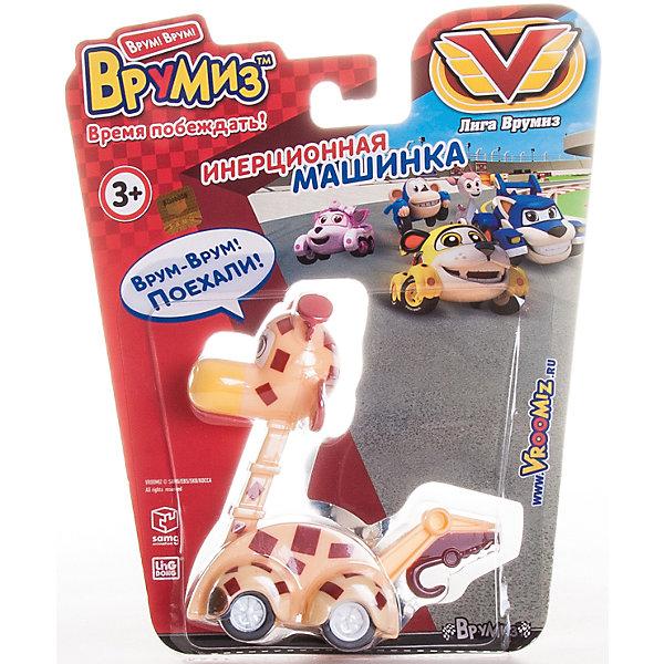 Инерционная машинка Джери, ВрумизИгрушки<br>Инерционная машинка Джери, Врумиз, станет отличным подарком для самых маленьких автолюбителей. Игрушка выполнена в виде доброй и отзывчивой девочки-жирафа Джери - одной из популярных героинь мультсериала Врумиз (Vroomiz). В необычном городе Зиппи Сити живут удивительные машинки-зверюшки, каждый день они попадают в различные забавные, а иногда и опасные ситуации, но благодаря своей дружбе упорно преодолевают все трудности, встретившиеся на пути. Джеральдина незаменимый участник команды Врумиз, благодаря своей длинной шее она обладает возможностью доставать предметы с высоты, далеко видеть и другими уникальными способностями. Машинка отличается высоким качеством исполнения и полностью воспроизводит внешний вид своего персонажа, у нее яркая желтая окраска с характерными пятнышками и забавная мордочка с ушками. Игрушка оснащена инерционным механизмом, если слегка оттянуть ее назад и отпустить, она устремится вперед.<br><br>Дополнительная информация:  <br>      <br>- Материал: пластик. <br>- Размер машинки: 4,5 х 9 см.<br>- Размер упаковки: 17 х 20 х 3 см.<br>- Вес: 0,1 кг.<br><br>Инерционную машинку Джери, Врумиз, можно купить в нашем интернет-магазине.<br><br>Ширина мм: 170<br>Глубина мм: 200<br>Высота мм: 30<br>Вес г: 98<br>Возраст от месяцев: 36<br>Возраст до месяцев: 120<br>Пол: Унисекс<br>Возраст: Детский<br>SKU: 4340063