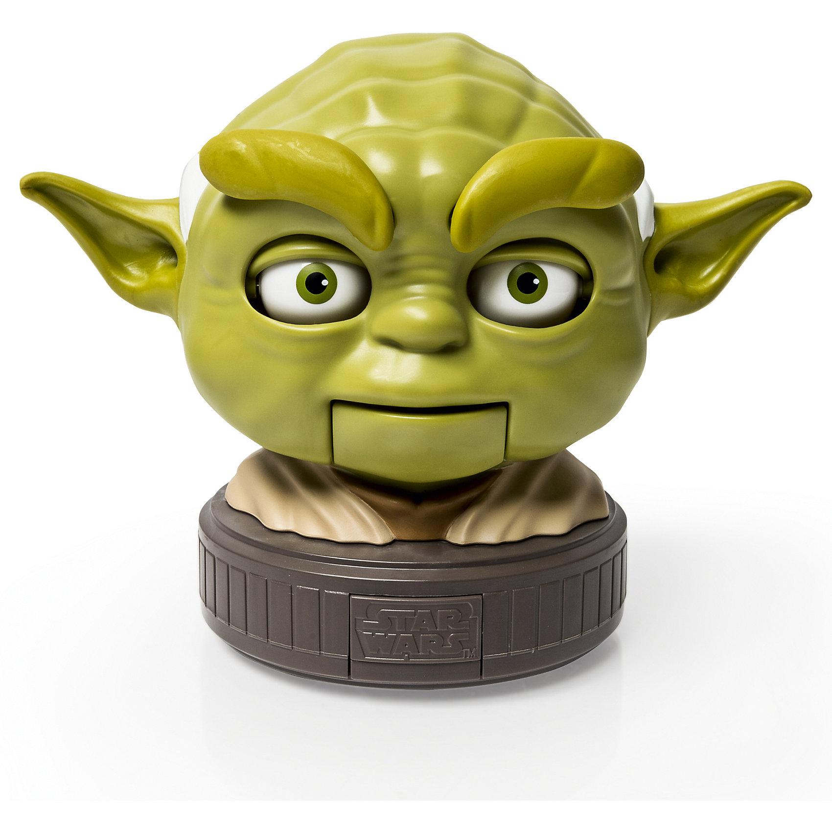 Интерактивная игрушка Бормочущие головы: Йода, Звездные войны, SpinmasterБормочущие головы, Звездные войны, Spinmaster (Спин Мастер) - оригинальная игрушка, которая порадует всех поклонников знаменитой киноэпопеи Звездные войны (Star Wars). Игрушка выполнена в виде фигурки (верхняя часть торса и голова) одного из популярных героев фильма и произносит 6 фраз на английском языке голосом персонажа. В данном наборе представлена голова одного из самых знаменитых персонажей саги - грандмастера Ордена Джедаев Йоды. Игрушка выполнена с высокой степенью детализации, лицо обладает живой мимикой - при произнесении фразы рот, глаза и брови двигаются. В дальнейшем в ассортименте появятся головы других персонажей фильма.<br><br>Дополнительная информация:        <br><br>- Материал: пластик. <br>- Требуются батарейки: 3 х ААА / LRO.3V (мизинчиковые) (не входят в комплект).<br>- Высота игрушки: 12 см. <br>- Размер упаковки: 21 х 11 х 16 см.<br>- Вес: 0,61 кг.<br><br>Бормочущие головы, Звездные войны, Spinmaster, можно купить в нашем интернет-магазине.<br><br>Ширина мм: 114<br>Глубина мм: 215<br>Высота мм: 165<br>Вес г: 610<br>Возраст от месяцев: 36<br>Возраст до месяцев: 192<br>Пол: Мужской<br>Возраст: Детский<br>SKU: 4340074