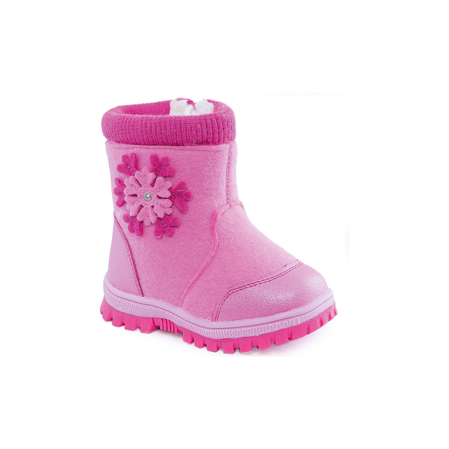 Валенки для девочки Indigo kidsВаленки<br>Валенки для девочки от известного  бренда Indigo kids<br><br>Теплые удобные валенки помогут защитить детские ножки от сырости и холода. Они легко надеваются, комфортно садятся по ноге.<br><br>Особенности модели:<br><br>- цвет - розовый;<br>- стильный дизайн;<br>- защита пятки и пальцев;<br>- удобная колодка;<br>- подкладка утепленная;<br>- страза, аппликация снежинка на голенище;<br>- устойчивая рифленая подошва;<br>- застежка - молния.<br><br>Дополнительная информация:<br><br>Температурный режим:<br><br>от -20° С до 0° С<br><br>Состав:<br><br>верх – войлок/кожа натуральная;<br>подкладка - шерсть.<br><br>Валенки для девочки Indigo kids (Индиго Кидс) можно купить в нашем магазине.<br><br>Ширина мм: 257<br>Глубина мм: 180<br>Высота мм: 130<br>Вес г: 420<br>Цвет: розовый<br>Возраст от месяцев: 24<br>Возраст до месяцев: 36<br>Пол: Женский<br>Возраст: Детский<br>Размер: 26,24,23,25,22,21<br>SKU: 4340454