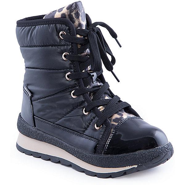 Ботинки для девочки Indigo kidsБотинки<br>Ботинки для девочки от известного  бренда Indigo kids<br><br>Модные ботинки помогут защитить ноги от сырости и холода, а также создать стильный образ. Они легко надеваются, комфортно садятся по ноге. <br>Ботинки сделаны с применением технологии INDIGO TEX – это мембранный материал, выводящий влагу из обуви наружу, но не позволяющий сырости проникать внутрь.<br><br>Особенности модели:<br><br>- цвет - черный;<br>- стильный дизайн;<br>- защита пятки и пальцев;<br>- удобная колодка;<br>- подкладка шерстяная;<br>- язычок - в леопардовой принт;<br>- мембрана INDIGO TEX;<br>- устойчивая рифленая подошва;<br>- застежка - молния, шнуровка.<br><br>Дополнительная информация:<br><br>Температурный режим:<br>от -10° С до +5° С<br><br>Состав:<br><br>верх – текстиль/искусственная кожа;<br>подкладка - шерсть;<br>подошва - полимер.<br><br>Ботинки для девочки Indigo kids (Индиго Кидс) можно купить в нашем магазине.<br>Ширина мм: 262; Глубина мм: 176; Высота мм: 97; Вес г: 427; Цвет: черный; Возраст от месяцев: 108; Возраст до месяцев: 120; Пол: Женский; Возраст: Детский; Размер: 33,37,32,34,35,36; SKU: 4340461;