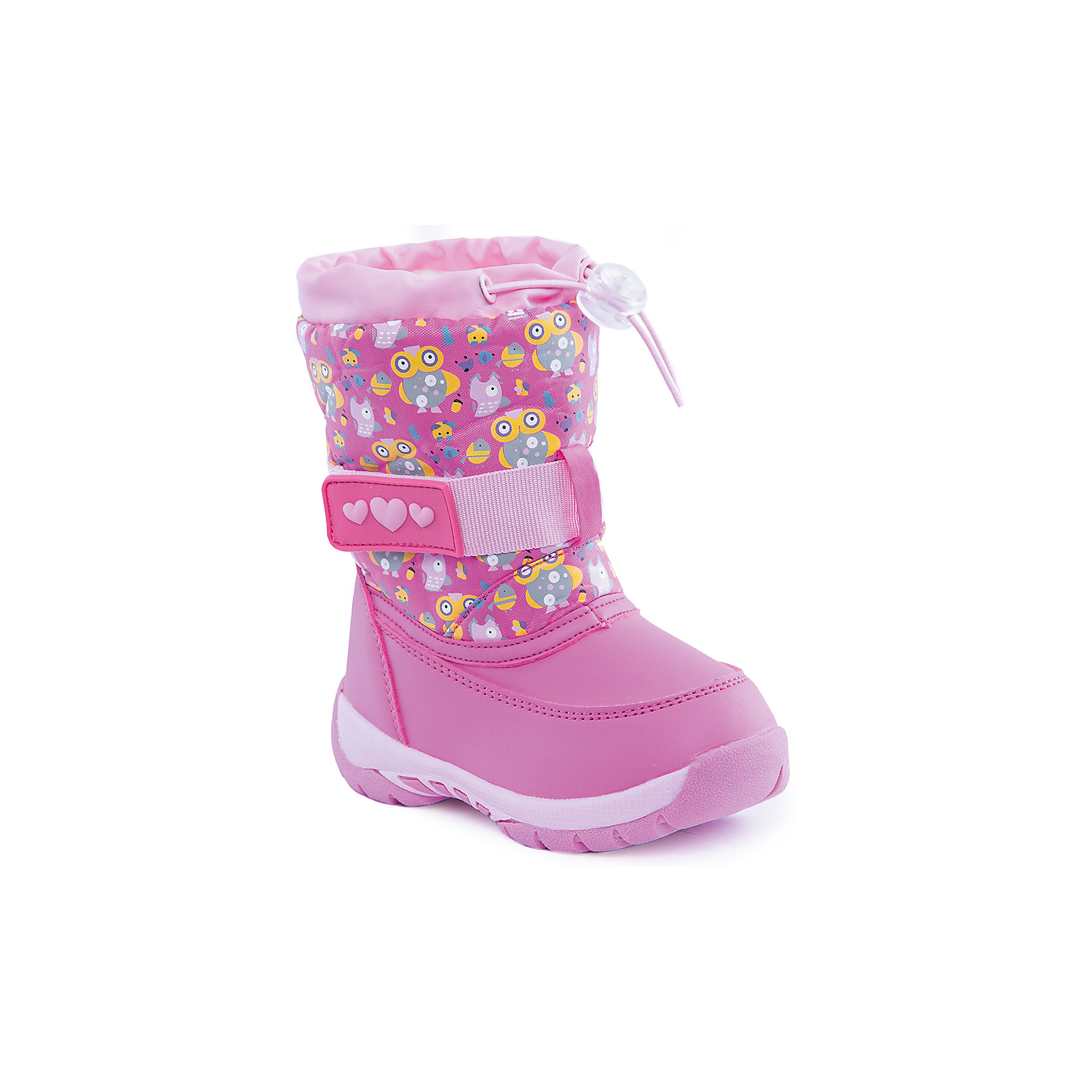 Сноубутсы для девочки Indigo kidsДутики<br>Сапоги для девочки от известного  бренда Indigo kids<br><br>Розовые дутые сапоги помогут защитить ноги от сырости и холода. Они легко надеваются, комфортно садятся по ноге. <br><br>Особенности модели:<br><br>- цвет - розовый;<br>- стильный дизайн;<br>- принт совята;<br>- удобная колодка;<br>- подкладка шерстяная;<br>- наверху - утяжка со стоппером;<br>- устойчивая подошва;<br>- застежка - липучка.<br><br>Дополнительная информация:<br><br>Температурный режим:<br>от -15° С до +5° С<br><br>Состав:<br><br>верх – текстиль/искусственная кожа;<br>подкладка - шерсть;<br>подошва - полимер.<br><br>Сапоги для девочки Indigo kids (Индиго Кидс) можно купить в нашем магазине.<br><br>Ширина мм: 257<br>Глубина мм: 180<br>Высота мм: 130<br>Вес г: 420<br>Цвет: розовый<br>Возраст от месяцев: 24<br>Возраст до месяцев: 36<br>Пол: Женский<br>Возраст: Детский<br>Размер: 26,28,27,25,24,23<br>SKU: 4340475