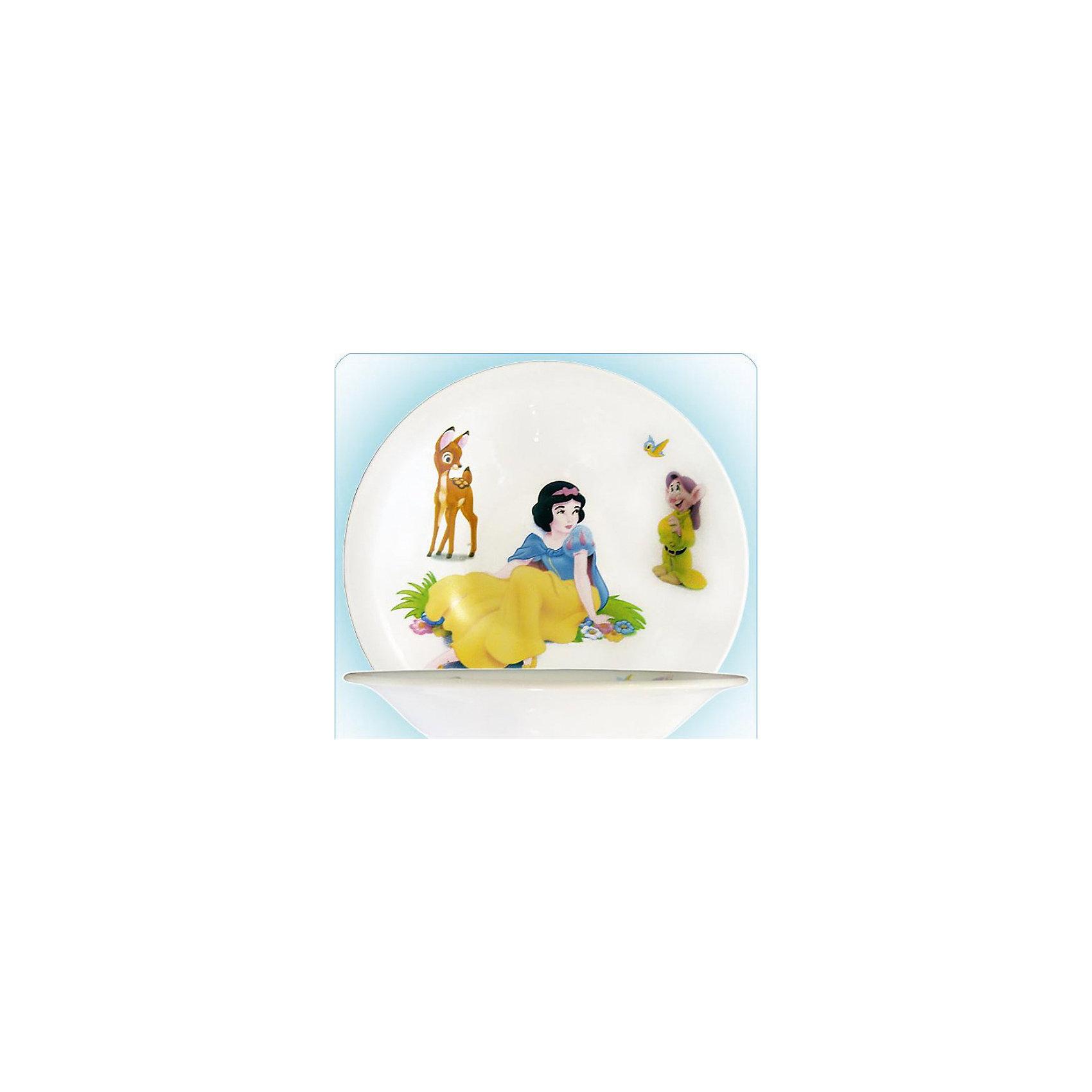 Новый Диск Глубокая тарелка Белоснежка 21 см, Принцессы Дисней кукла золушка 7 5 см принцессы дисней