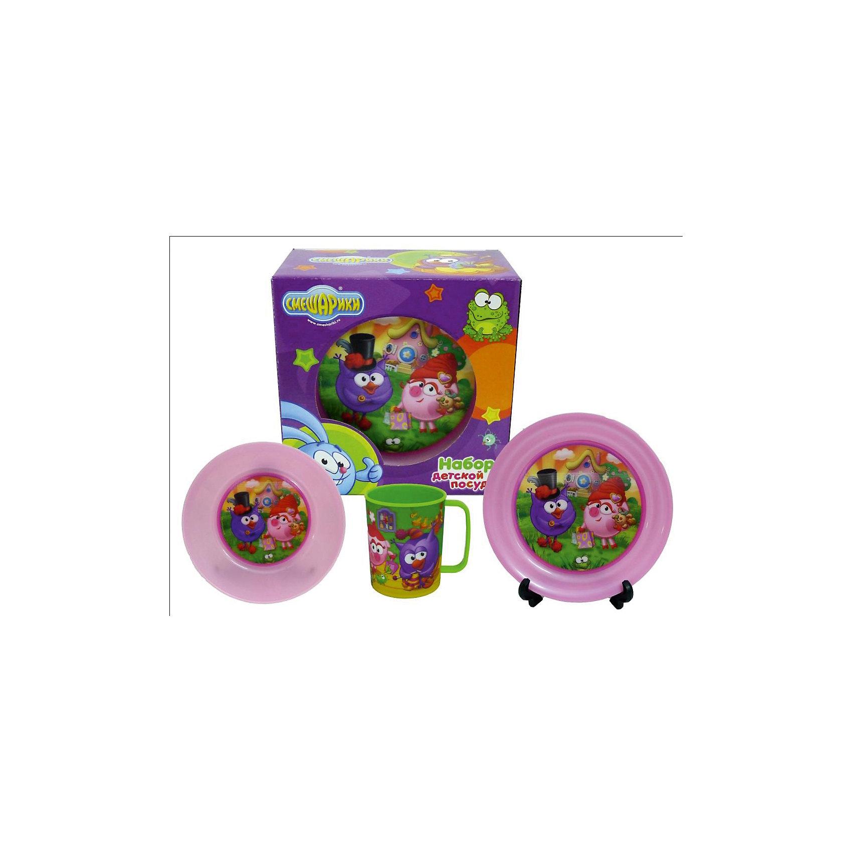 """Набор посуды """"Смешарики"""" (3 предмета) от myToys"""