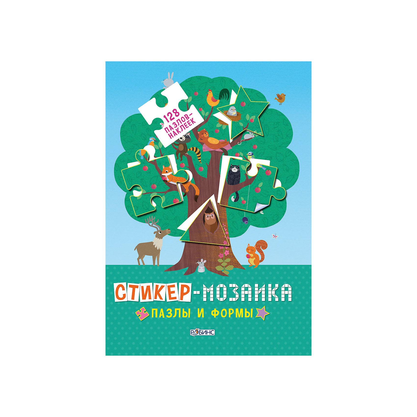 Книга с наклейками Стикер-мозаика: Пазлы и формыРобинс<br>Книга с наклейками Стикер-мозаика. Пазлы и формы – это увлекательная книга познакомит малыша с геометрическими фигурами.<br>В книге Стикер-мозаика. Пазлы и формы представлено множество картинок-головоломок, в которых не хватает некоторых важных деталей. Собрать головоломки малыш сможет при помощи наклеек-пазлов, располагающихся на специальной вкладке в конце издания. Для удобства, наклейки подписаны номерами страниц, на которых предложены задания. В поисках места для каждого кусочка пазла ребенку предстоит подключить внимание и свои наблюдательные способности. Увлекательное занятие надолго заинтересует малыша и позволит ему развить усидчивость, зрительную память, мышление, мелкую моторику, координацию движений рук, а также в игровой форме познакомит с геометрическими фигурами: круг, квадрат, ромб, трапеция, овал, полукруг, восьмиугольник, прямоугольник, треугольник.<br><br>Дополнительная информация:<br><br>- Издательство: Робинс<br>- Серия: Стикер-мозаика<br>- Тип обложки: мягкая обложка<br>- Иллюстрации: цветные<br>- Количество страниц: 34 (мелованная)<br>- Количество пазлов-наклеек: 128<br>- Размер: 297x210x40 мм.<br>- Вес: 232 гр.<br><br>Книгу с наклейками Стикер-мозаика. Пазлы и формы можно купить в нашем интернет-магазине.<br><br>Ширина мм: 297<br>Глубина мм: 210<br>Высота мм: 40<br>Вес г: 232<br>Возраст от месяцев: 48<br>Возраст до месяцев: 84<br>Пол: Унисекс<br>Возраст: Детский<br>SKU: 4341832