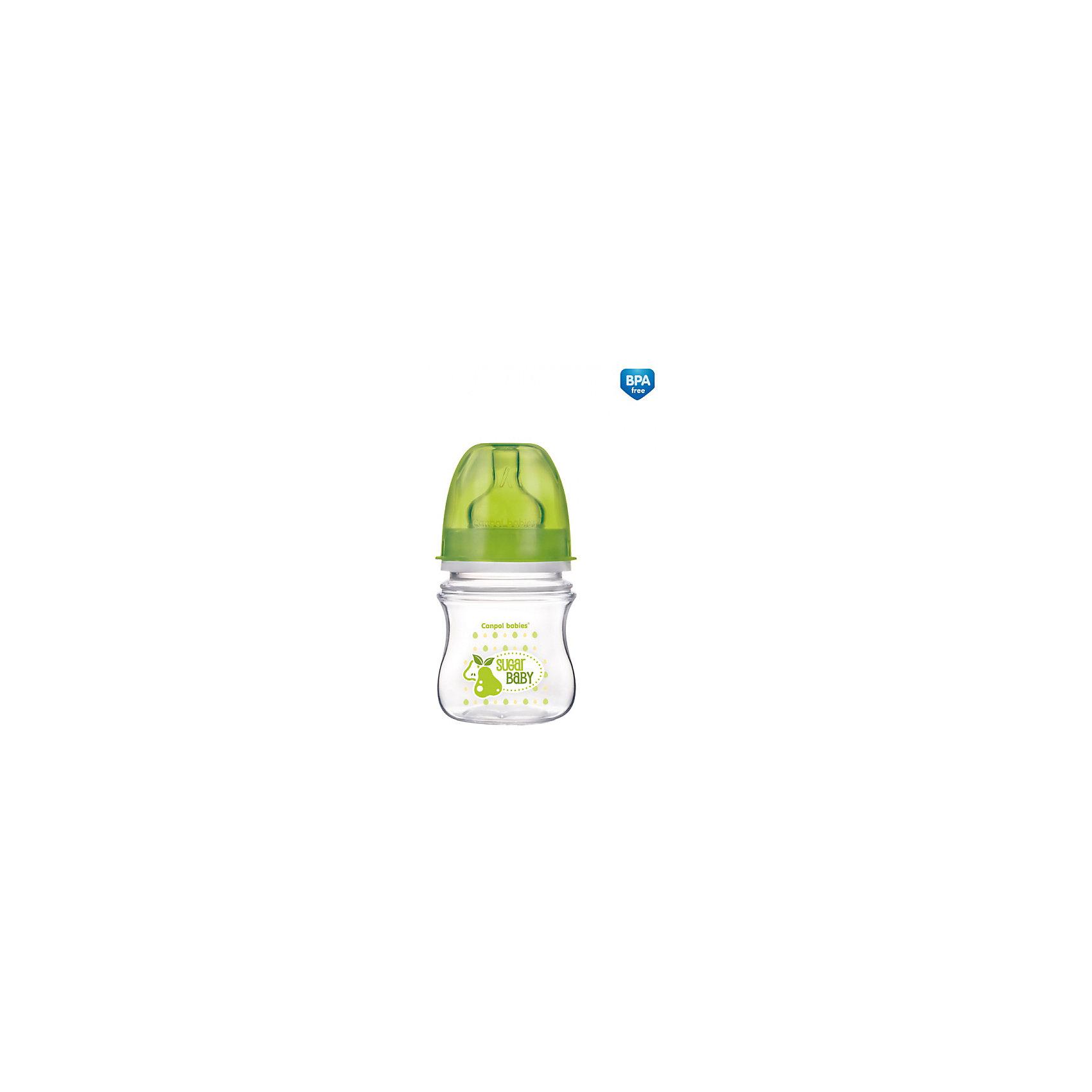 Антиколиковая бутылочка коллекция Фрукты, 120 мл, Canpol Babies, зеленый110 - 180 мл.<br>Антиколиковая бутылочка коллекции Фрукты, Canpol Babies (Канпол Бэбис), сделает кормление малыша еще более приятным и комфортным и поможет совмещать грудное вскармливание и кормление из бутылочки. Благодаря широкой соске, повторяющей форму материнской груди сосательные движения малыша будут такими же, как при кормлении грудью, что значительно снижает риск отказа от груди. Усовершенствованный воздухоотводящий клапан позволяет предотвратить заглатывание воздуха и сокращает риск возникновение колик. Соска с медленным потоком контролирует поток молока, почти как при грудном кормлении, что помогает сократить риск переедания. <br><br>Бутылочка изготовлена на японском оборудовании из высококачественного полипропилена нового поколения. Имеет современный привлекательный дизайн и эргономичную форму, ее очень удобно держать даже малышу. Благодаря широкому горлышку, бутылочку легко мыть и наполнять питанием. На стенке имеется мерная шкала, позволяющая точно рассчитать необходимое количество питания. <br><br>Дополнительная информация:<br><br>- Цвет: зеленый.<br>- Материал: полипропилен (бутылочка), силикон (соска).<br>- Объем бутылочки: 120 мл.<br>- Возраст: с 3 мес.<br>- Размер бутылочки: 17,5 х 6,3 х 6,5 см.<br>- Вес: 91 гр.<br><br>Антиколиковую бутылочку коллекция Фрукты, 120 мл., Canpol Babies (Канпол Бэбис), зеленый, можно купить в нашем интернет-магазине.<br><br>Ширина мм: 65<br>Глубина мм: 63<br>Высота мм: 175<br>Вес г: 91<br>Цвет: зеленый<br>Возраст от месяцев: 0<br>Возраст до месяцев: 3<br>Пол: Унисекс<br>Возраст: Детский<br>SKU: 4341850