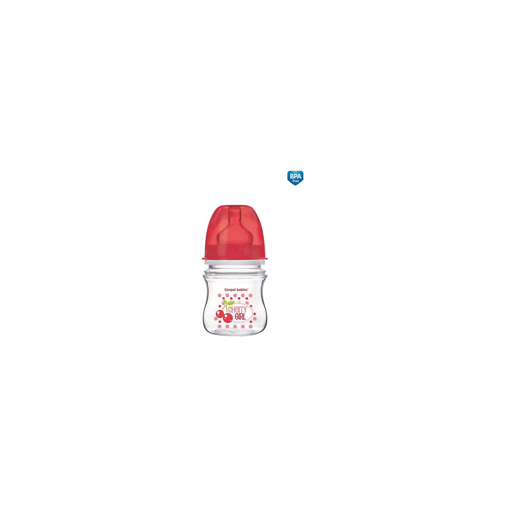 Антиколиковая бутылочка коллекция Фрукты, 120 мл, Canpol Babies, красныйАнтиколиковая бутылочка коллекции Фрукты, Canpol Babies (Канпол Бэбис), сделает кормление малыша еще более приятным и комфортным и поможет совмещать грудное вскармливание и кормление из бутылочки. Благодаря широкой соске, повторяющей форму материнской груди сосательные движения малыша будут такими же, как при кормлении грудью, что значительно снижает риск отказа от груди. Усовершенствованный воздухоотводящий клапан позволяет предотвратить заглатывание воздуха и сокращает риск возникновение колик. Соска с медленным потоком контролирует поток молока, почти как при грудном кормлении, что помогает сократить риск переедания. <br><br>Бутылочка изготовлена на японском оборудовании из высококачественного полипропилена нового поколения. Имеет современный привлекательный дизайн и эргономичную форму, ее очень удобно держать даже малышу. Благодаря широкому горлышку, бутылочку легко мыть и наполнять питанием. На стенке имеется мерная шкала, позволяющая точно рассчитать необходимое количество питания. <br><br>Дополнительная информация:<br><br>- Цвет: красный.<br>- Материал: полипропилен (бутылочка), силикон (соска).<br>- Объем бутылочки: 120 мл.<br>- Возраст: с 3 мес.<br>- Размер бутылочки: 17,5 х 6,3 х 6,5 см.<br>- Вес: 91 гр.<br><br>Антиколиковую бутылочку коллекция Фрукты, 120 мл., Canpol Babies (Канпол Бэбис), красный, можно купить в нашем интернет-магазине.<br><br>Ширина мм: 65<br>Глубина мм: 63<br>Высота мм: 175<br>Вес г: 91<br>Цвет: красный<br>Возраст от месяцев: 0<br>Возраст до месяцев: 3<br>Пол: Унисекс<br>Возраст: Детский<br>SKU: 4341851