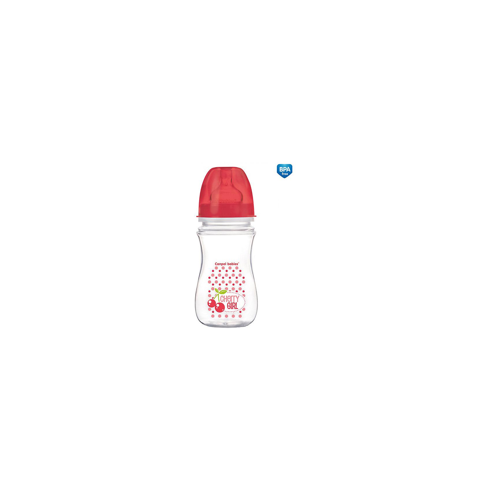 Антиколиковая бутылочка коллекция Фрукты, 240 мл, Canpol Babies, красныйАнтиколиковая бутылочка коллекции Фрукты, Canpol Babies (Канпол Бэбис), сделает кормление малыша еще более приятным и комфортным и поможет совмещать грудное вскармливание и кормление из бутылочки. Благодаря широкой соске, повторяющей форму материнской груди сосательные движения малыша будут такими же, как при кормлении грудью, что значительно снижает риск отказа от груди. Усовершенствованный воздухоотводящий клапан позволяет предотвратить заглатывание воздуха и возникновение колик. Соска со средним потоком контролирует поступающее количество питания, что помогает сократить риск переедания. <br><br>Бутылочка изготовлена на японском оборудовании из высококачественного полипропилена нового поколения. Имеет современный привлекательный дизайн и эргономичную форму, ее очень удобно держать даже малышу. Благодаря широкому горлышку, бутылочку легко мыть и наполнять питанием. На стенке имеется мерная шкала, позволяющая точно рассчитать необходимое количество питания. <br><br>Дополнительная информация:<br><br>- Цвет: красный.<br>- Материал: полипропилен (бутылочка), силикон (соска).<br>- Объем бутылочки: 240 мл.<br>- Возраст: с 6 мес.<br>- Размер бутылочки: 21,2 х 6,5 х 6,5 см.<br>- Вес: 106 гр.<br><br>Антиколиковую бутылочку, коллекция Фрукты, 240 мл., Canpol Babies (Канпол Бэбис), красный, можно купить в нашем интернет-магазине.<br><br>Ширина мм: 65<br>Глубина мм: 65<br>Высота мм: 212<br>Вес г: 106<br>Цвет: красный<br>Возраст от месяцев: 3<br>Возраст до месяцев: 6<br>Пол: Унисекс<br>Возраст: Детский<br>SKU: 4341854