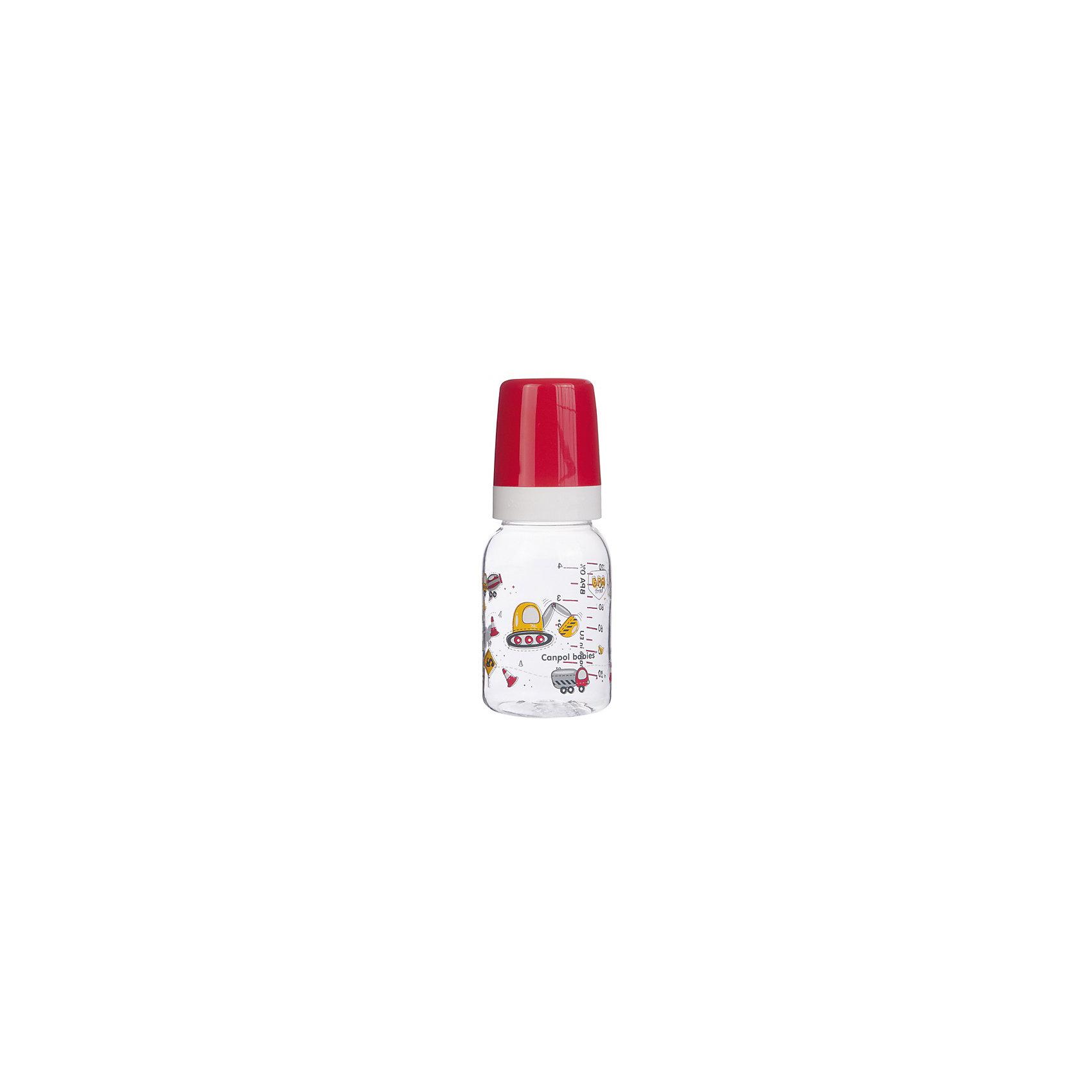 Бутылочка коллекция Мужская, 120 мл, Canpol Babies, красный