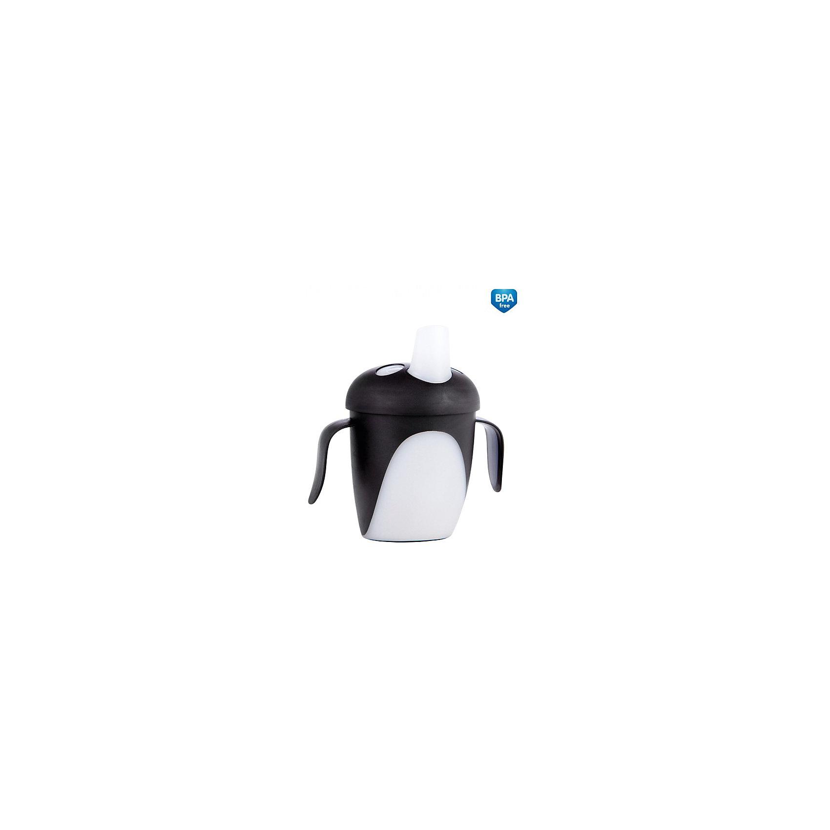 Обучающий поильник Пингвин, 250 мл., Canpol Babies, черныйОбучающий поильник Пингвин, Canpol Babies (Канпол Бэбис), идеально подойдет для малышей, которые учатся пить из чашки. Удобные прорезиненные ручки позволяют ребенку легко держать поильник. Герметичная крышка оснащена специальным носиком для питья, который не раздражает десны малыша и помогает ему комфортно перейти от кормления из бутылочки к питью из чашки. Благодаря уникальному непроливающему клапану, малыш может спокойно пить самостоятельно, не боясь пролить жидкость. Яркий дизайн в форме забавного пингвина непременно привлечет внимание ребенка. Кружка изготовлена из безопасных, нетоксичных материалов, не содержит Бисфенол-А.<br><br>Дополнительная информация:<br><br>- Цвет: черный.<br>- Материал: полипропилен/поликарбонат.<br>- Возраст: от 9 мес.<br>- Объем: 250 мл.<br>- Размер: 8,2 х 11,7 х 17 см.<br>- Вес: 101 гр.<br><br>Обучающий поильник Пингвин, 250 мл., Canpol Babies (Канпол Бэбис), черный, можно купить в нашем интернет-магазине.<br><br>Ширина мм: 82<br>Глубина мм: 117<br>Высота мм: 170<br>Вес г: 101<br>Цвет: черный<br>Возраст от месяцев: 12<br>Возраст до месяцев: 24<br>Пол: Унисекс<br>Возраст: Детский<br>SKU: 4341871