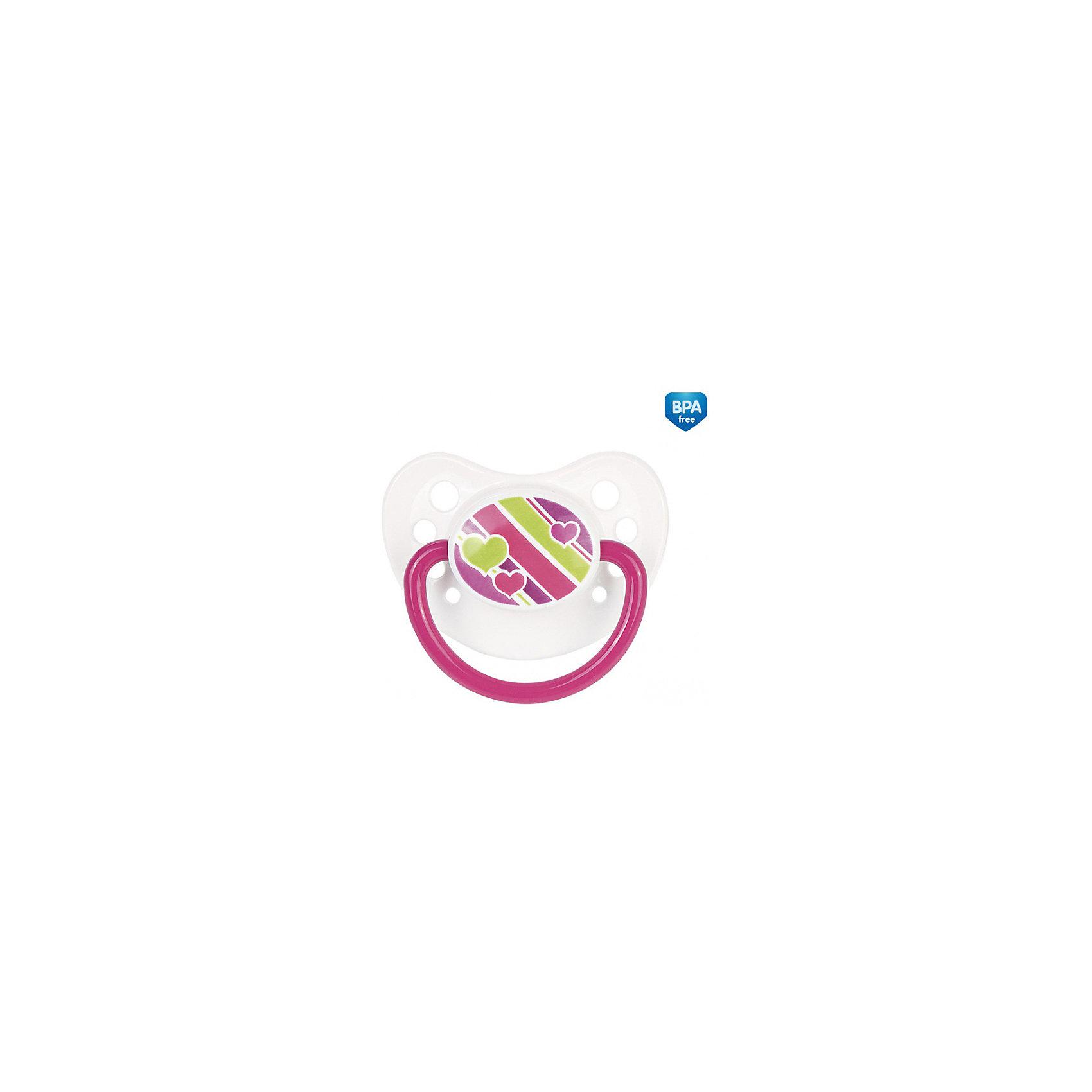 Латексная пустышка , 0-6 мес., Canpol Babies, розовыйПустышки из латекса<br>Латексная пустышка, Canpol Babies (Канпол Бэбис), поможет малышу чувствовать себя комфортно на протяжении всего дня. Движения пустышки имитируют процесс сосания материнской груди и успокаивают ребенка. Соска анатомической формы учитывает строение и естественное развитие неба, зубов и десен малыша и способствует формированию правильного прикуса у ребенка. На диске имеются отверстия для вентиляции, предохраняющие кожу малыша от раздражения. Пустышка выполнена в привлекательном для ребенка дизайне и украшена ярким рисунком в виде сердечек. Изготовлена из высококачественного латекса, легко моется и долго сохраняет форму и цвет. <br><br>Дополнительная информация:<br><br>- Цвет: розовый.<br>- В комплекте: 1 шт.<br>- Материал: латекс<br>- Возраст: 0-6 мес.<br>- Размер упаковки: 15 х 9,5 х 4,5 см.<br>- Вес: 22 гр.<br><br>Латексную пустышку, Canpol Babies (Канпол Бэбис), розовый, можно купить в нашем интернет-магазине.<br><br>Ширина мм: 150<br>Глубина мм: 95<br>Высота мм: 45<br>Вес г: 22<br>Цвет: розовый<br>Возраст от месяцев: 0<br>Возраст до месяцев: 6<br>Пол: Женский<br>Возраст: Детский<br>SKU: 4341877
